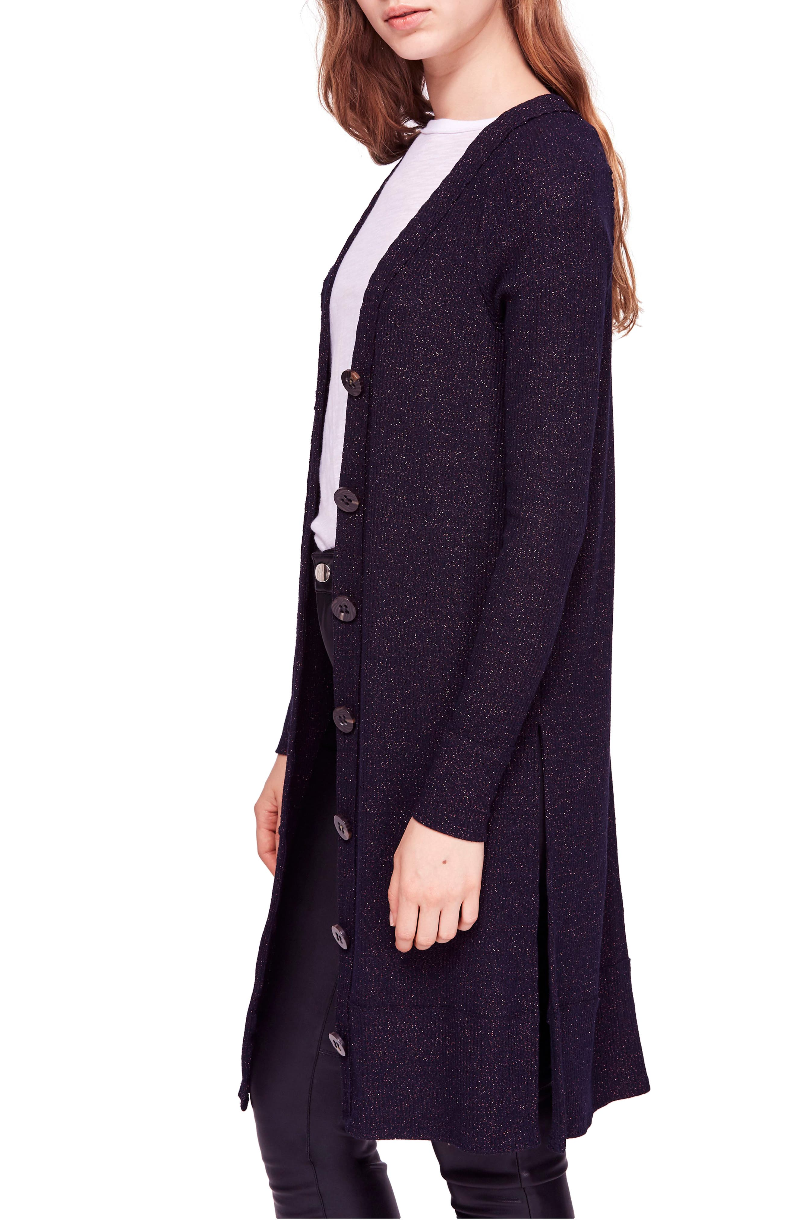 Sparkly Long Cardigan,                             Alternate thumbnail 3, color,                             410