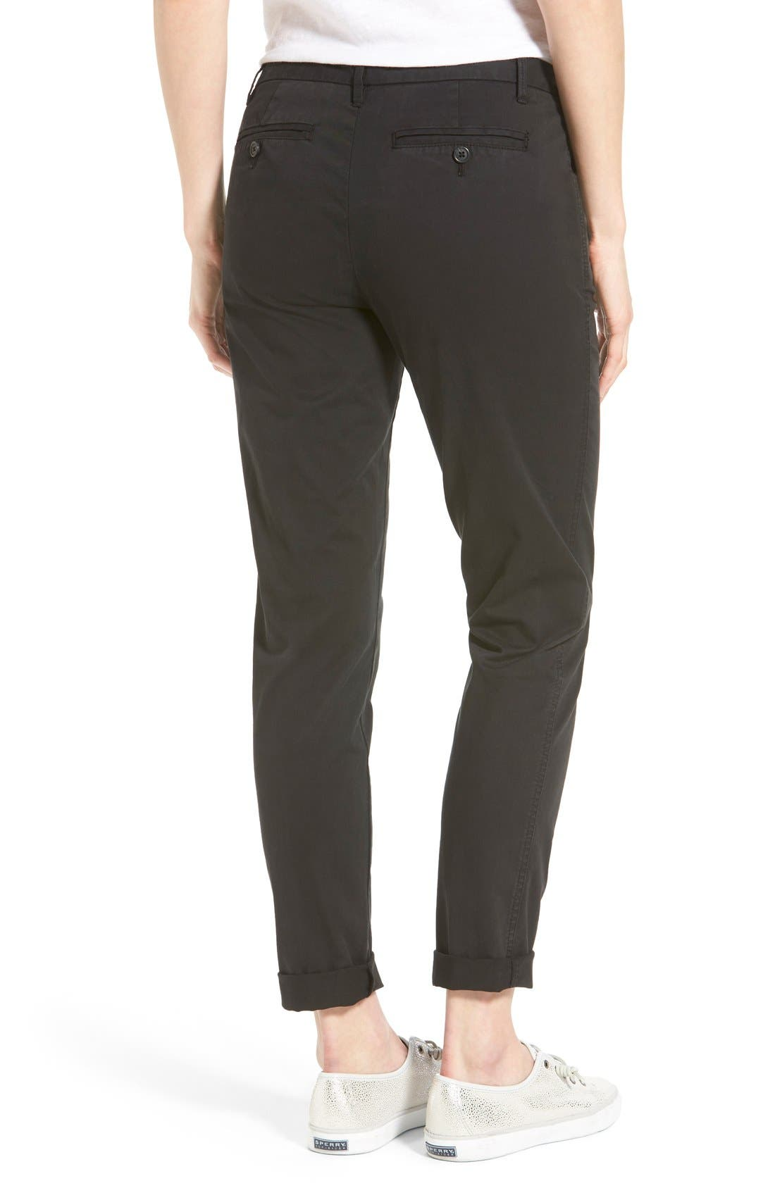 Chino Ankle Pants,                             Alternate thumbnail 5, color,                             001