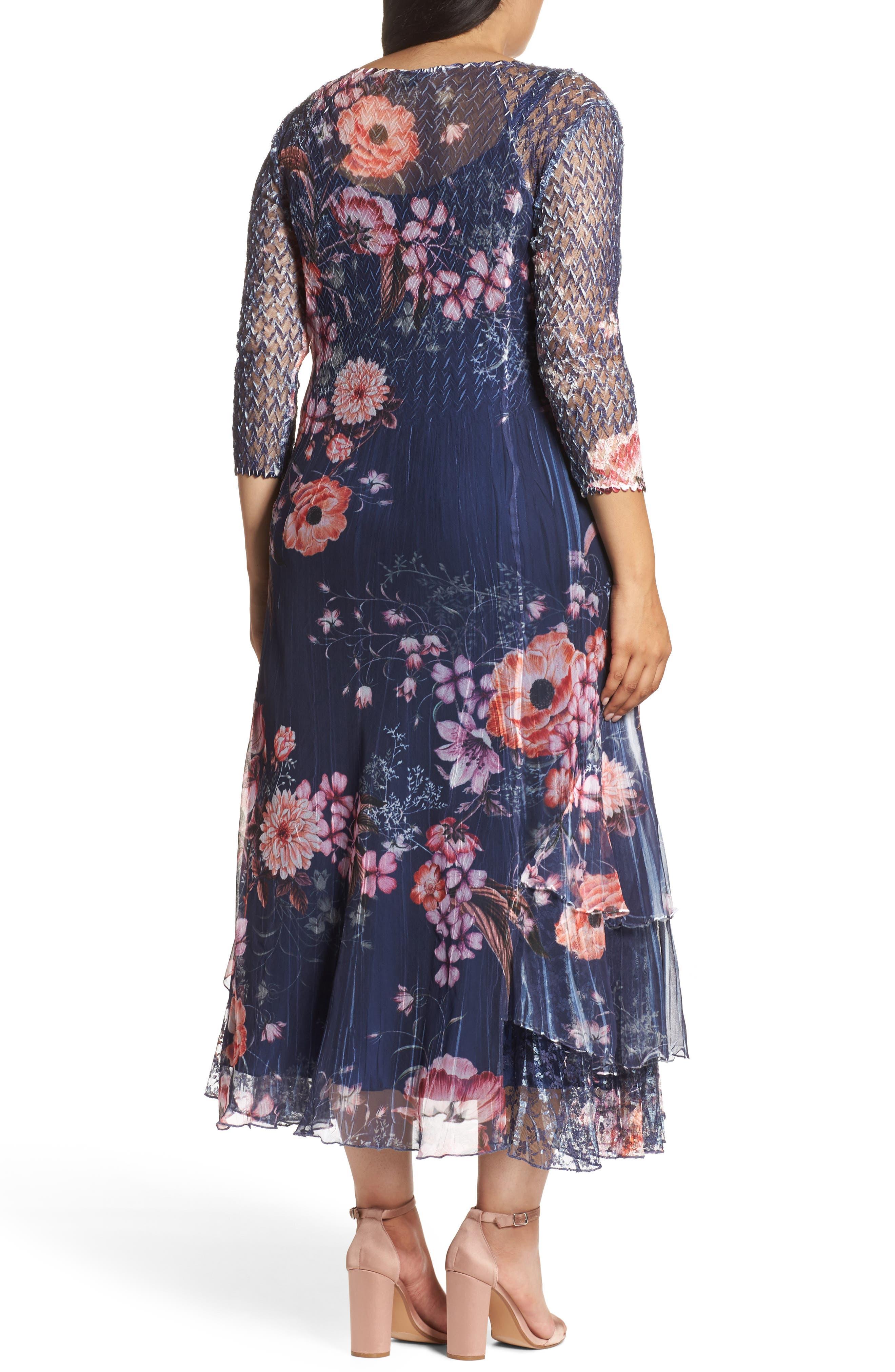 Print Chiffon Tiered Maxi Dress,                             Alternate thumbnail 2, color,                             958
