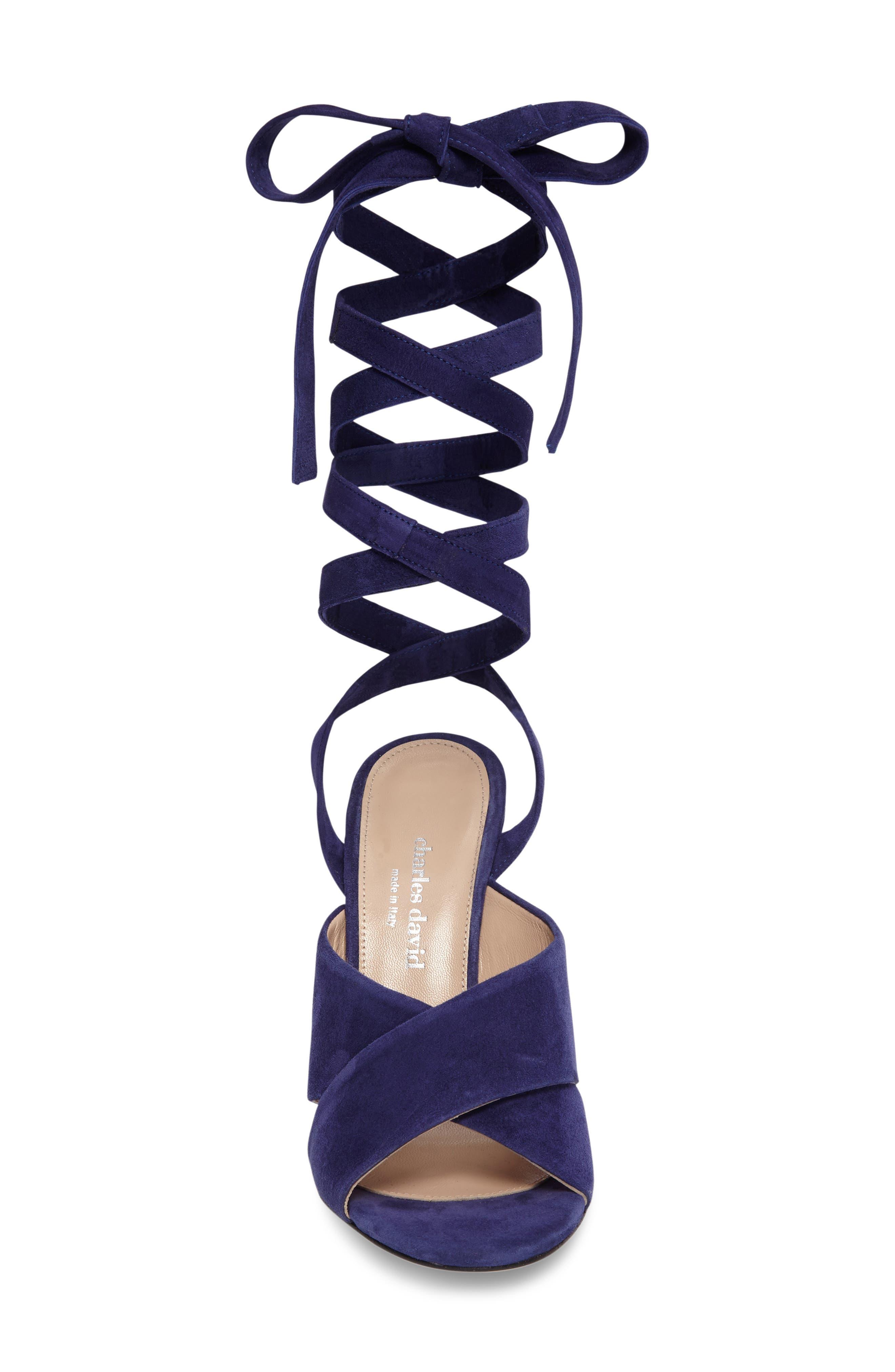 Quest Wraparound Lace Sandal,                             Alternate thumbnail 9, color,