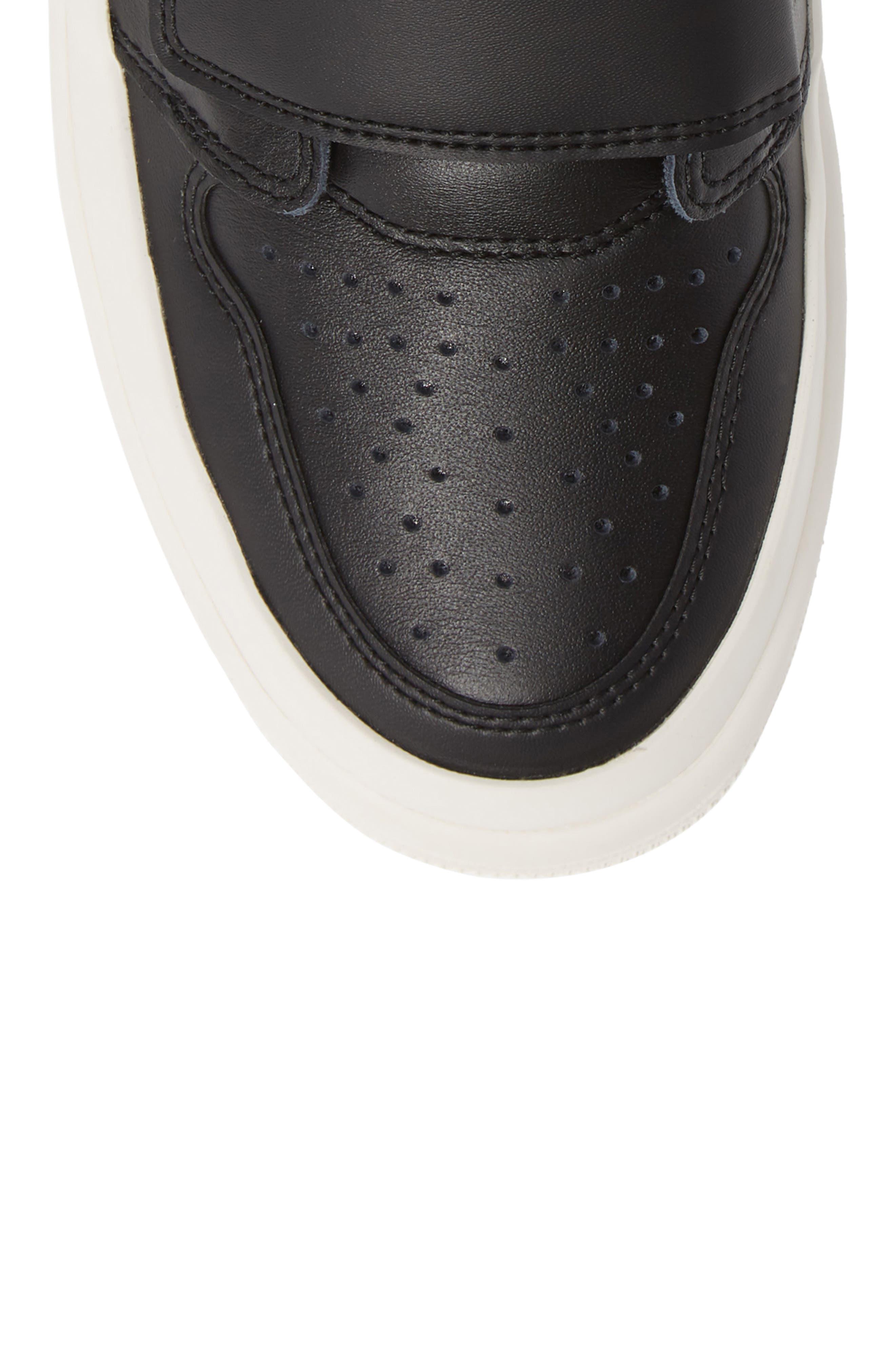 Air Jordan 1 Retro High Double Strap Sneaker,                             Alternate thumbnail 5, color,                             BLACK/ GYM RED