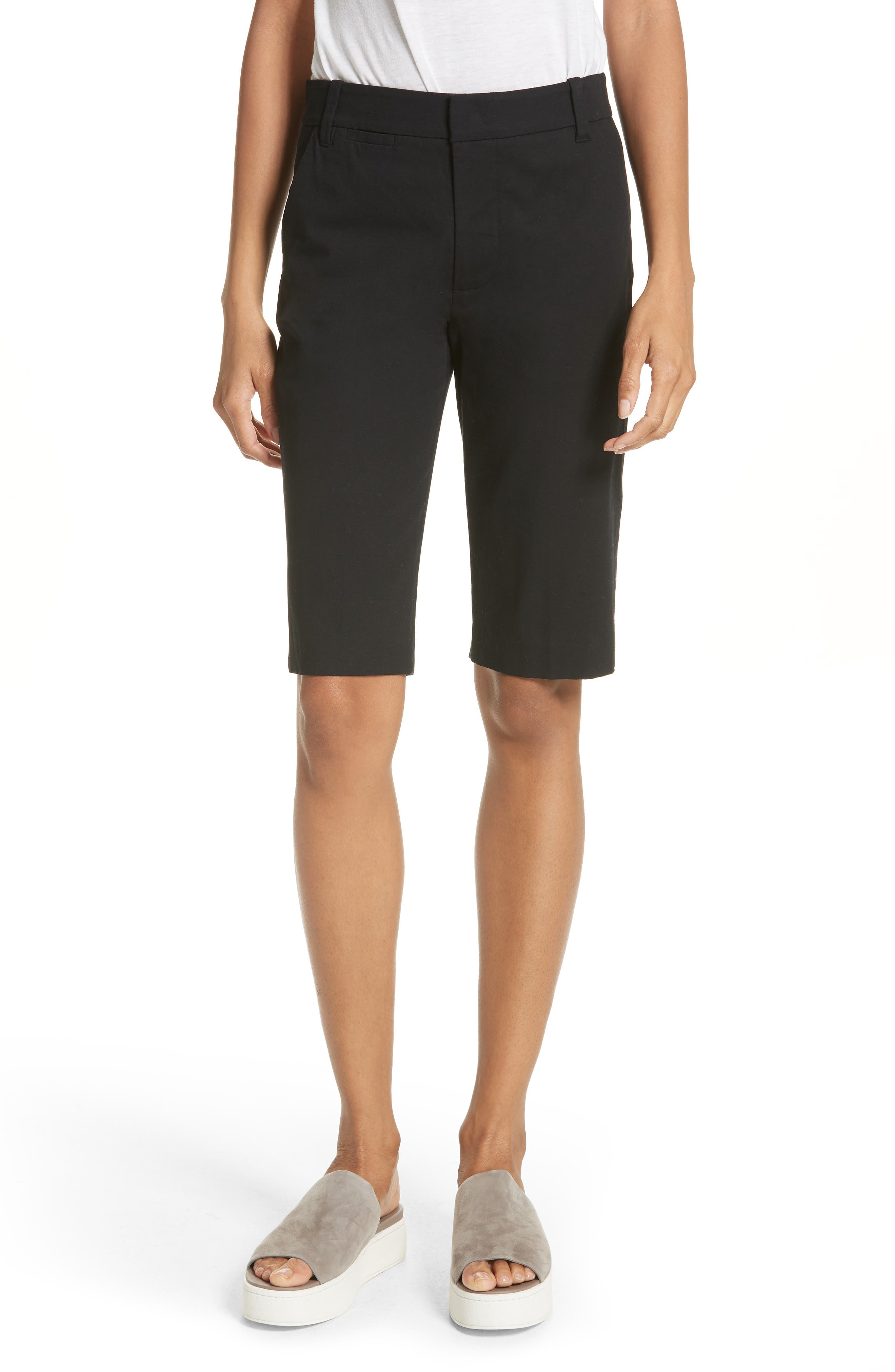 Bermuda Shorts,                         Main,                         color, BLACK