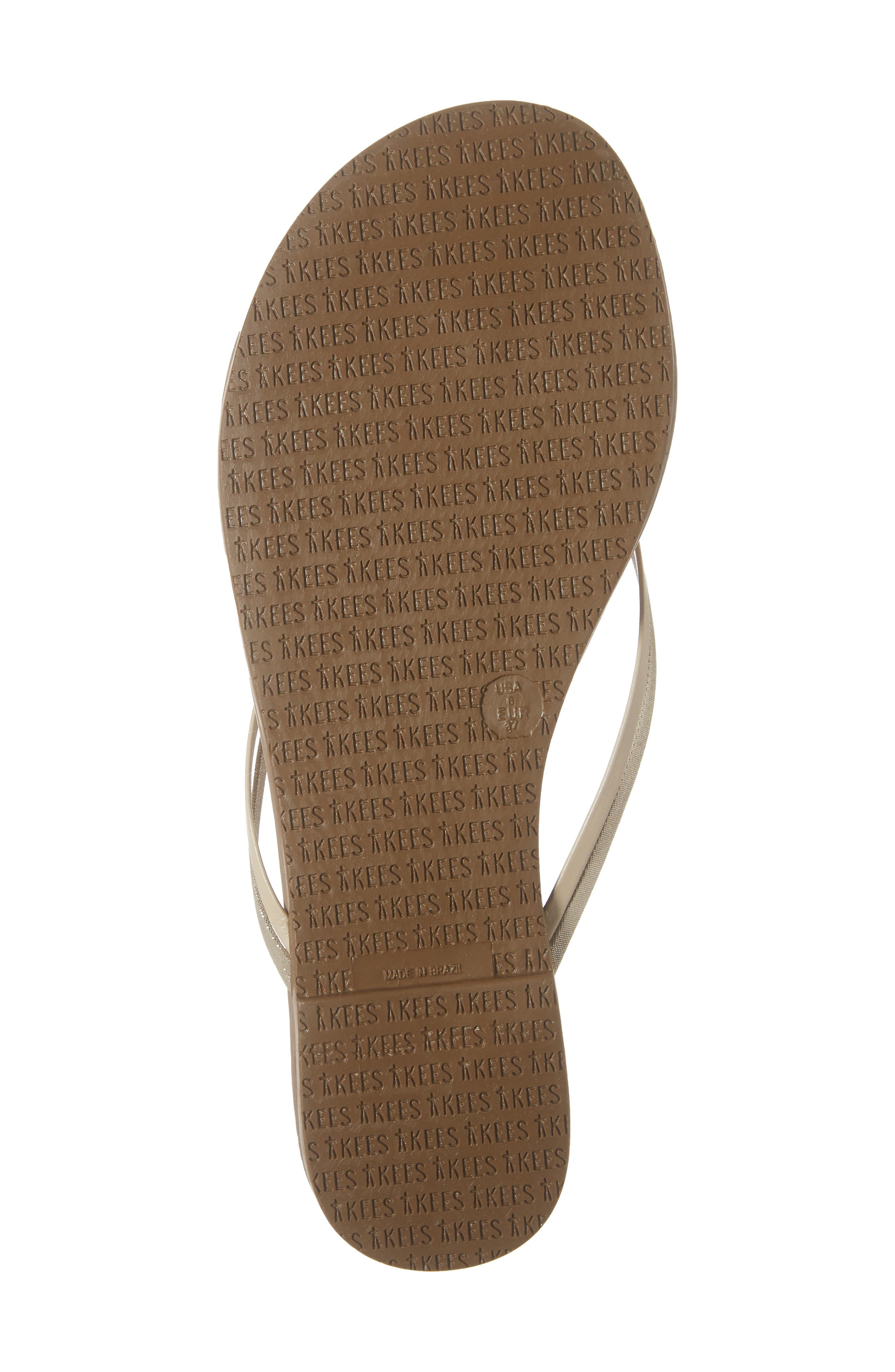 'Duos' Flip Flop,                             Alternate thumbnail 6, color,                             OYSTER SHELL LEATHER