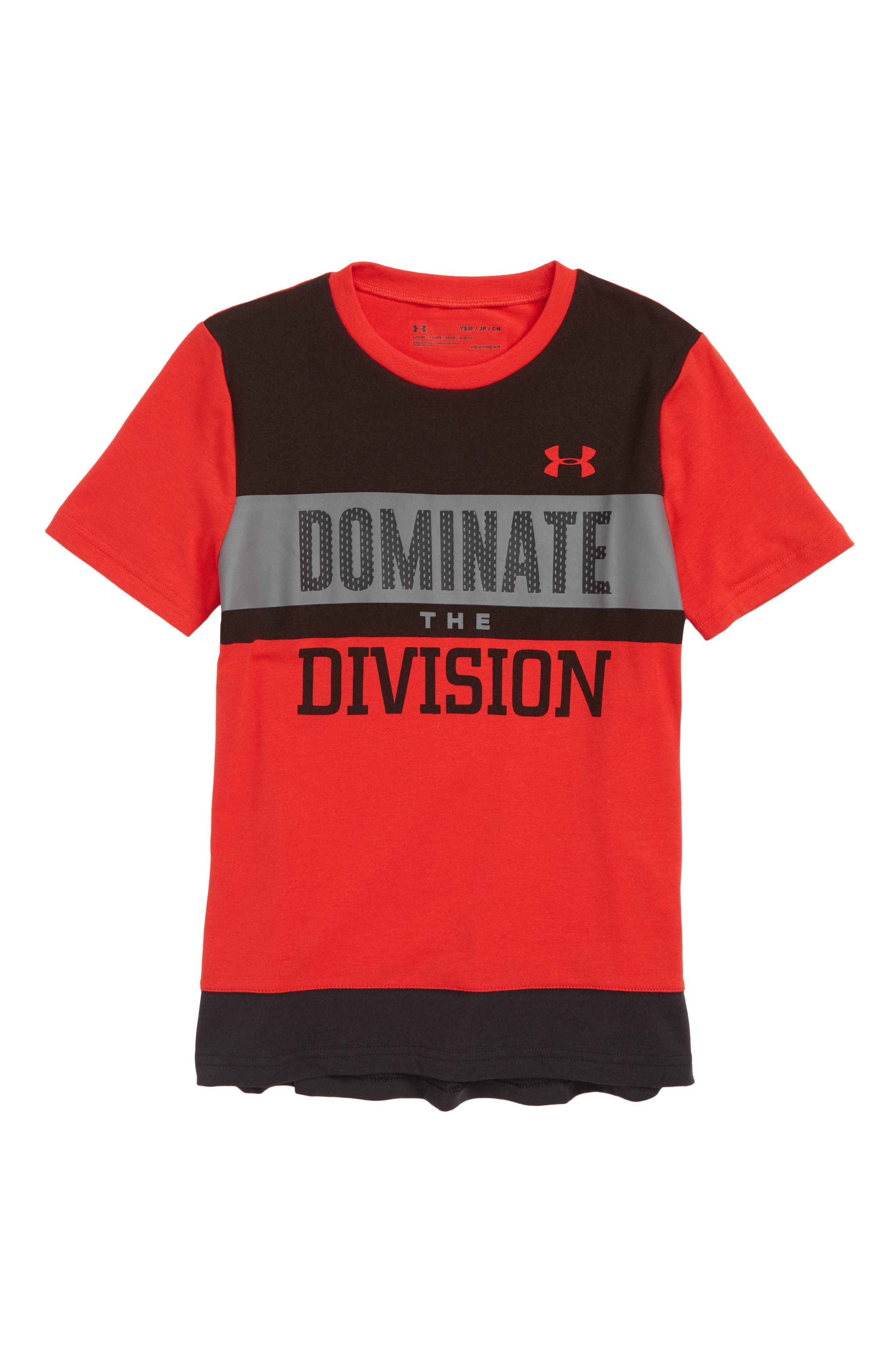 Dominate the Division HeatGear<sup>®</sup> T-Shirt,                             Main thumbnail 1, color,                             600