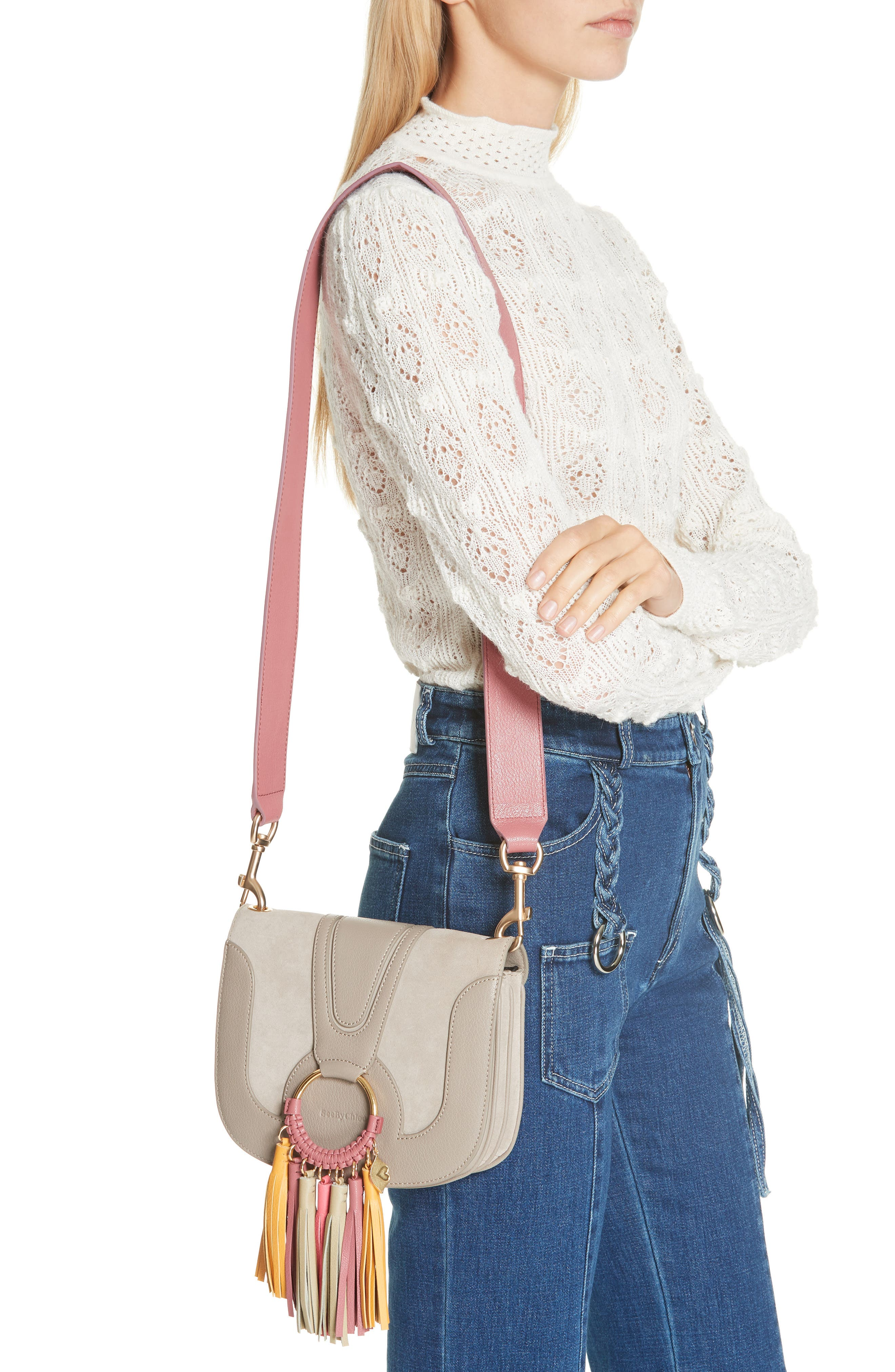 Hana Leather Shoulder Bag,                             Alternate thumbnail 2, color,                             020