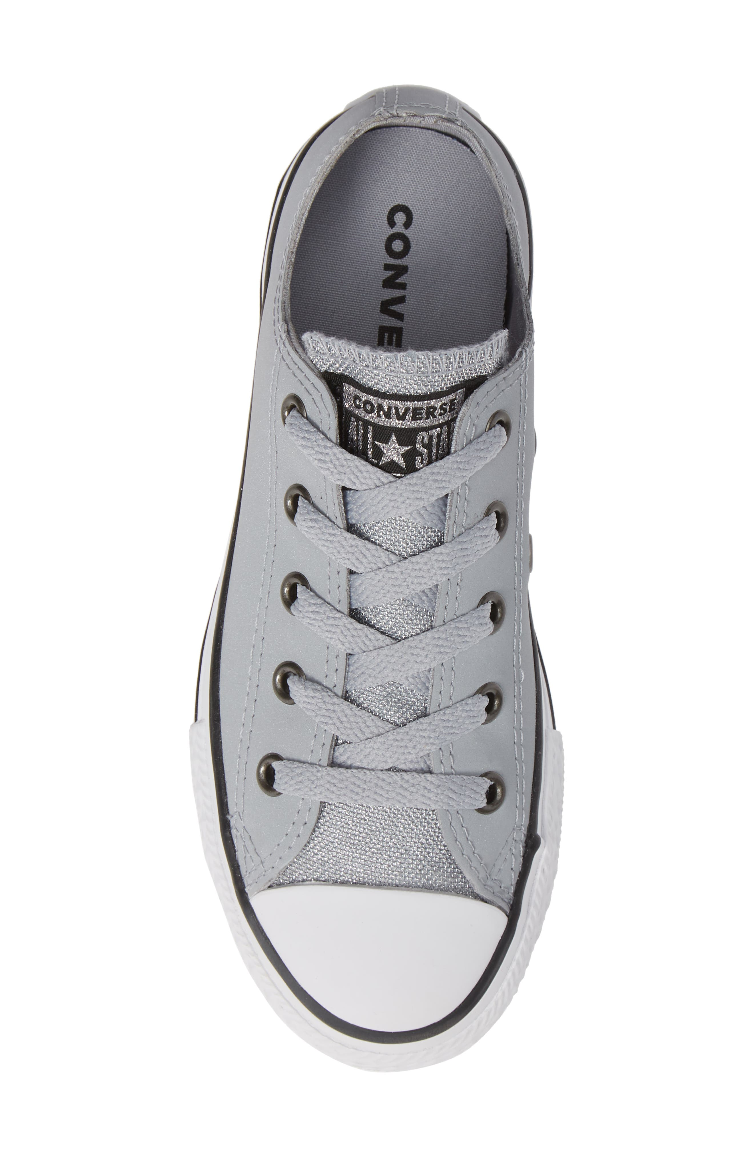 All Star<sup>®</sup> Metallic Low Top Sneaker,                             Alternate thumbnail 5, color,                             WOLF GREY