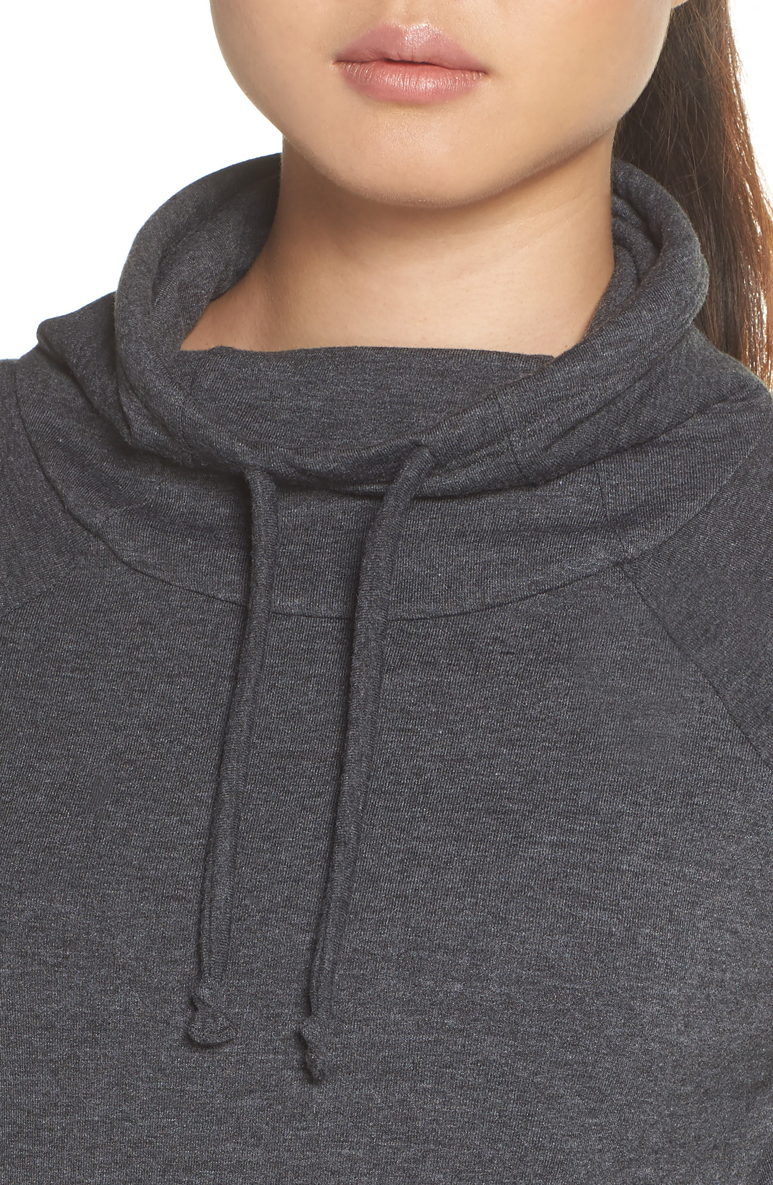 Funnel Neck Sweatshirt,                             Alternate thumbnail 4, color,                             TNF DARK GREY HEATHER