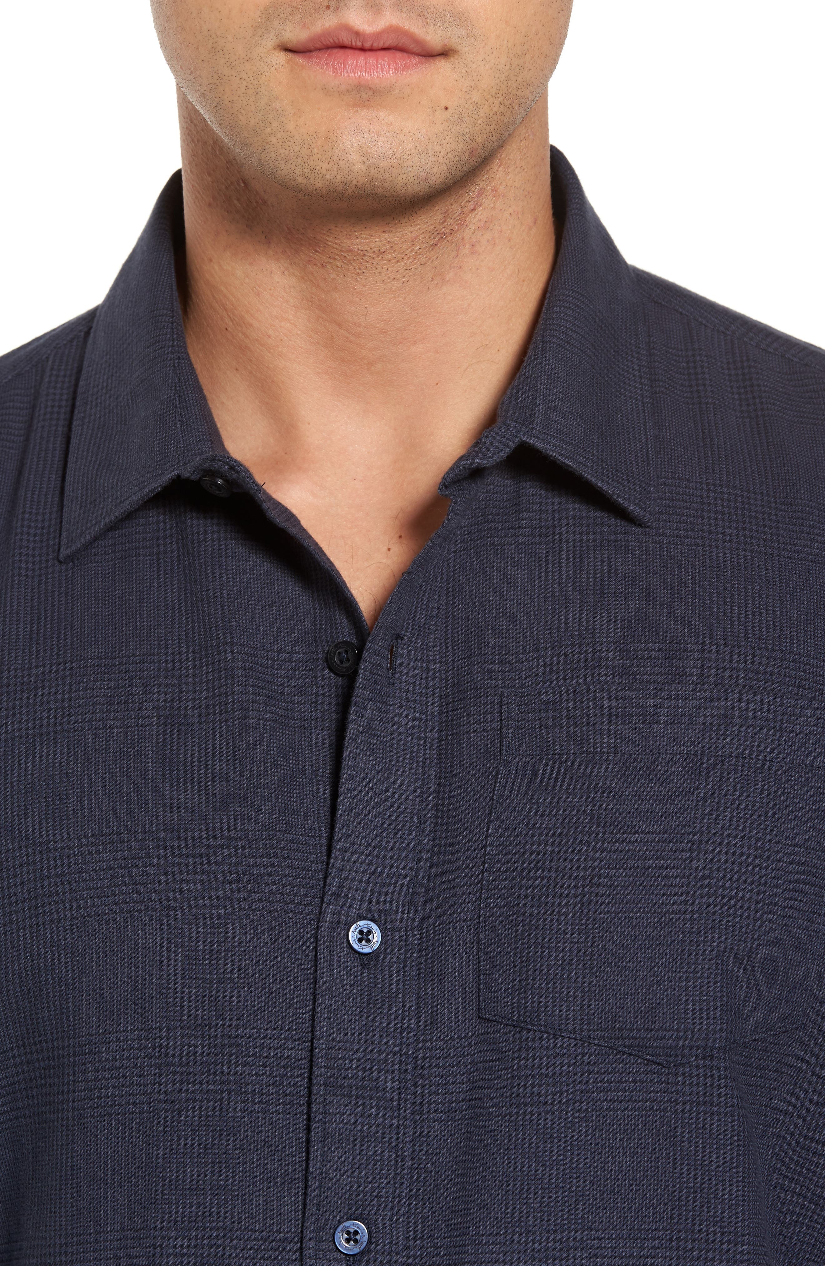 Overly Glen Plaid Sport Shirt,                             Alternate thumbnail 4, color,                             400