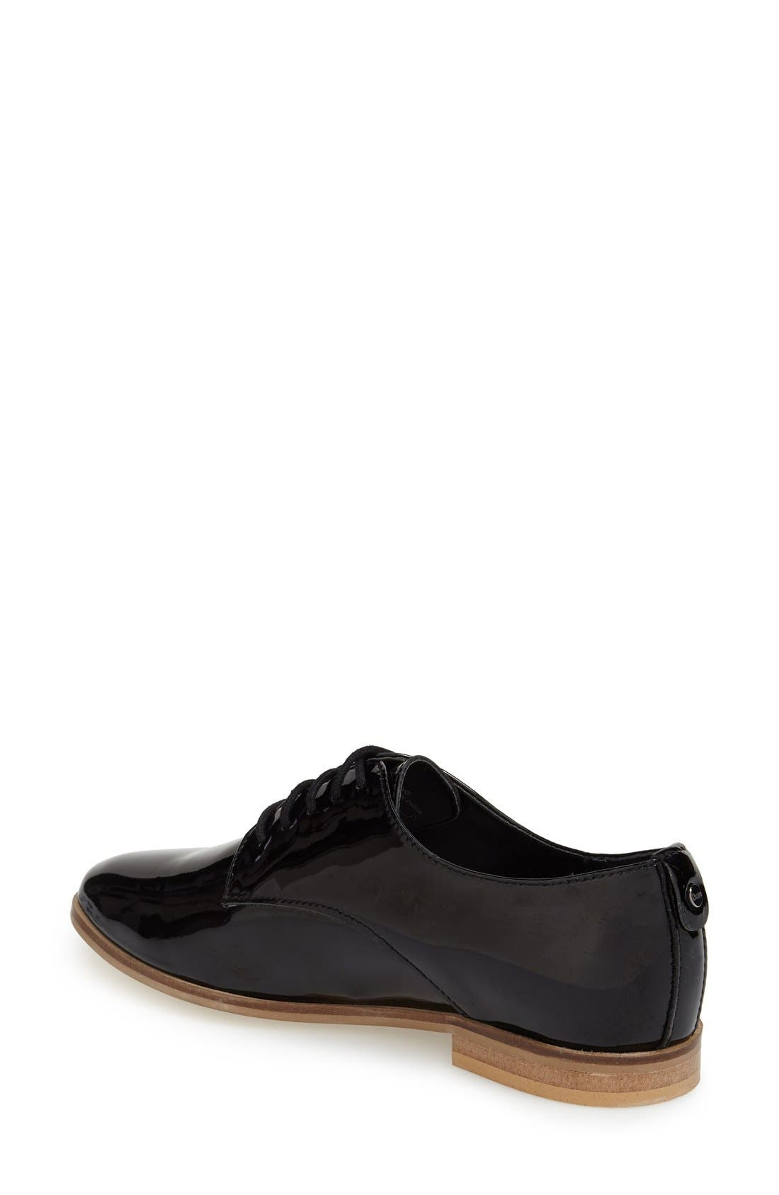 'Flossy' Patent Leather Oxford,                             Alternate thumbnail 4, color,                             005
