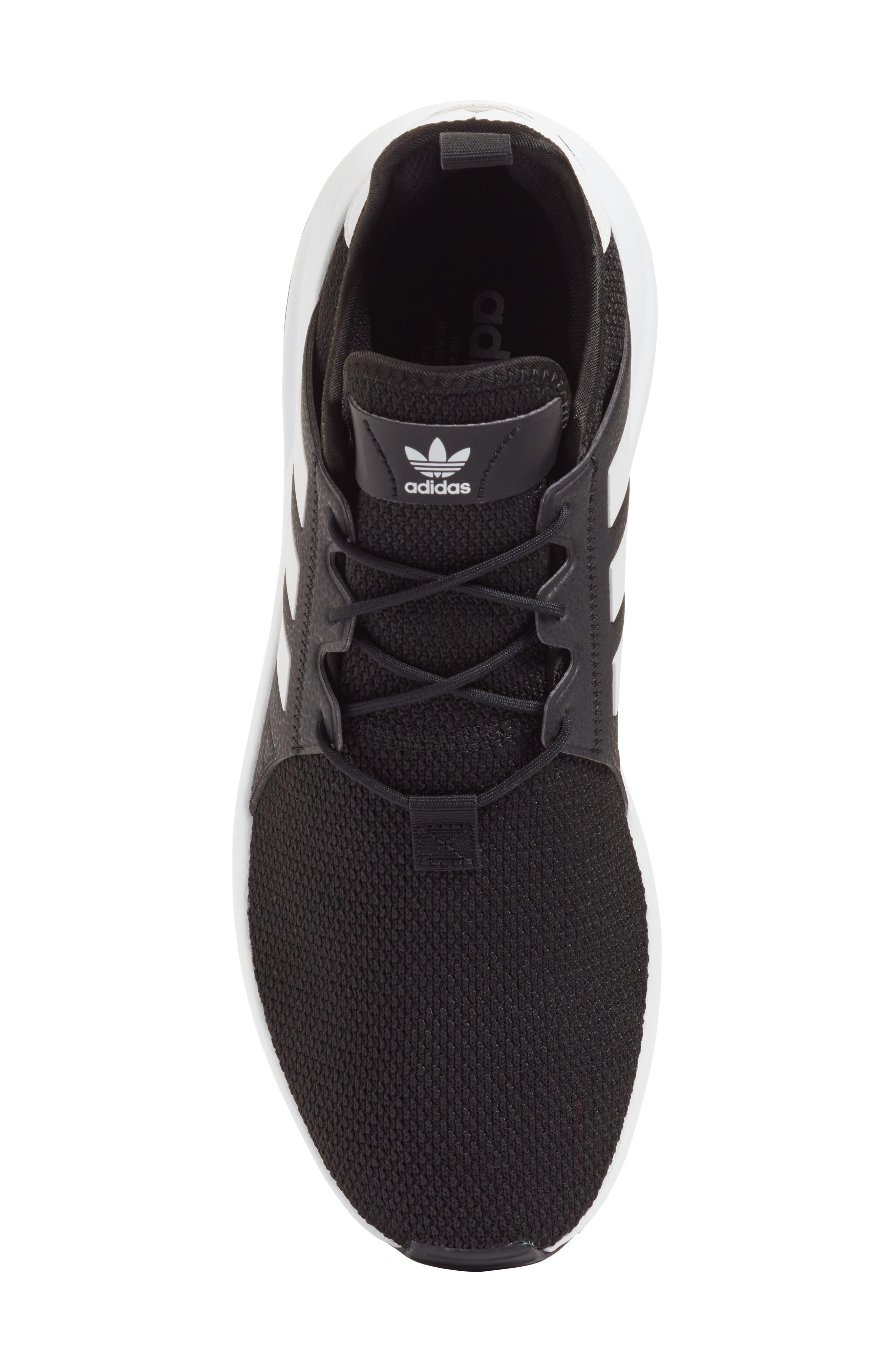 X_PLR Sneaker,                             Alternate thumbnail 5, color,                             BLACK/ WHITE/ BLACK