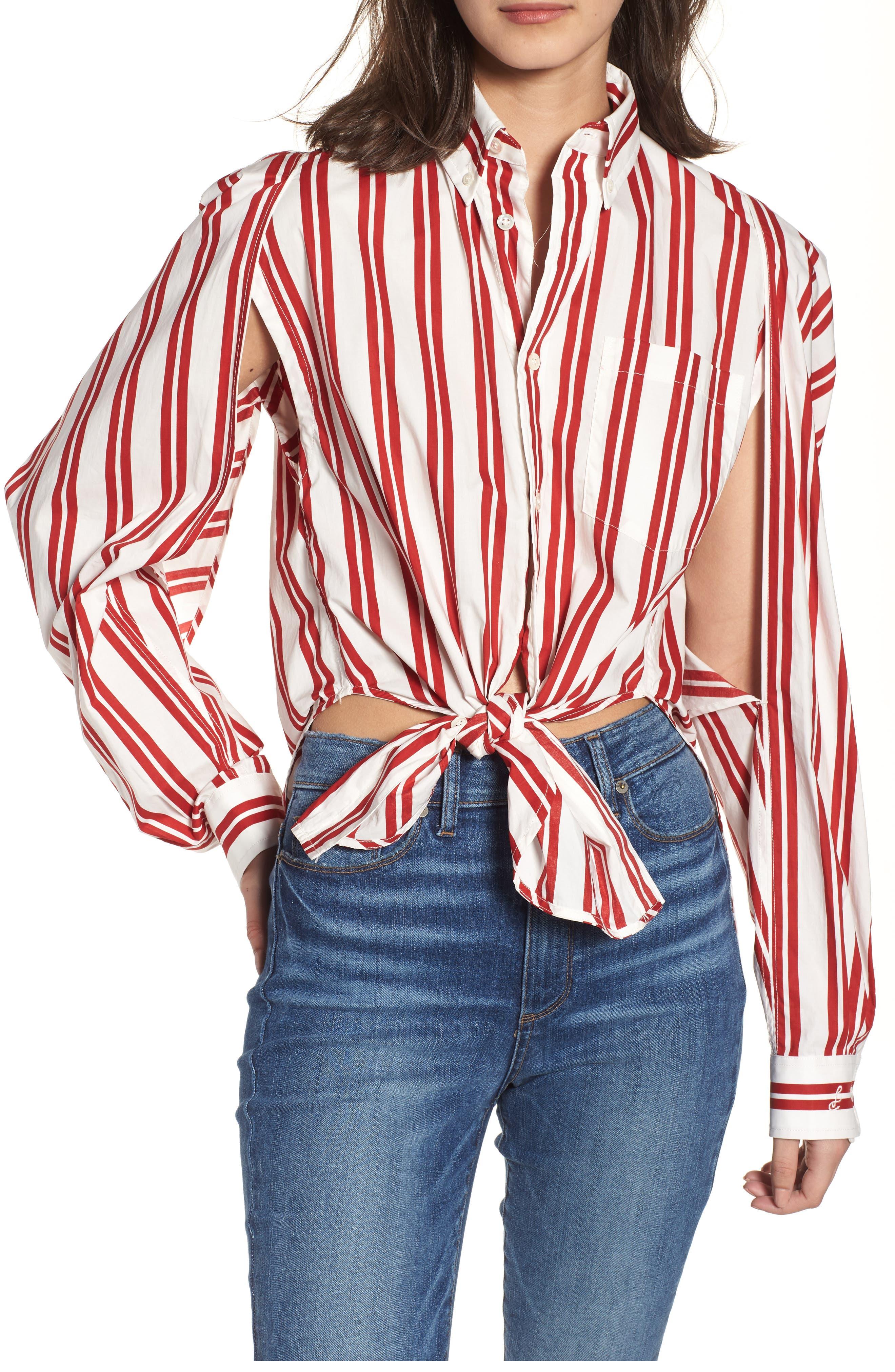 Hug Me Tie Hem Shirt,                         Main,                         color, 640