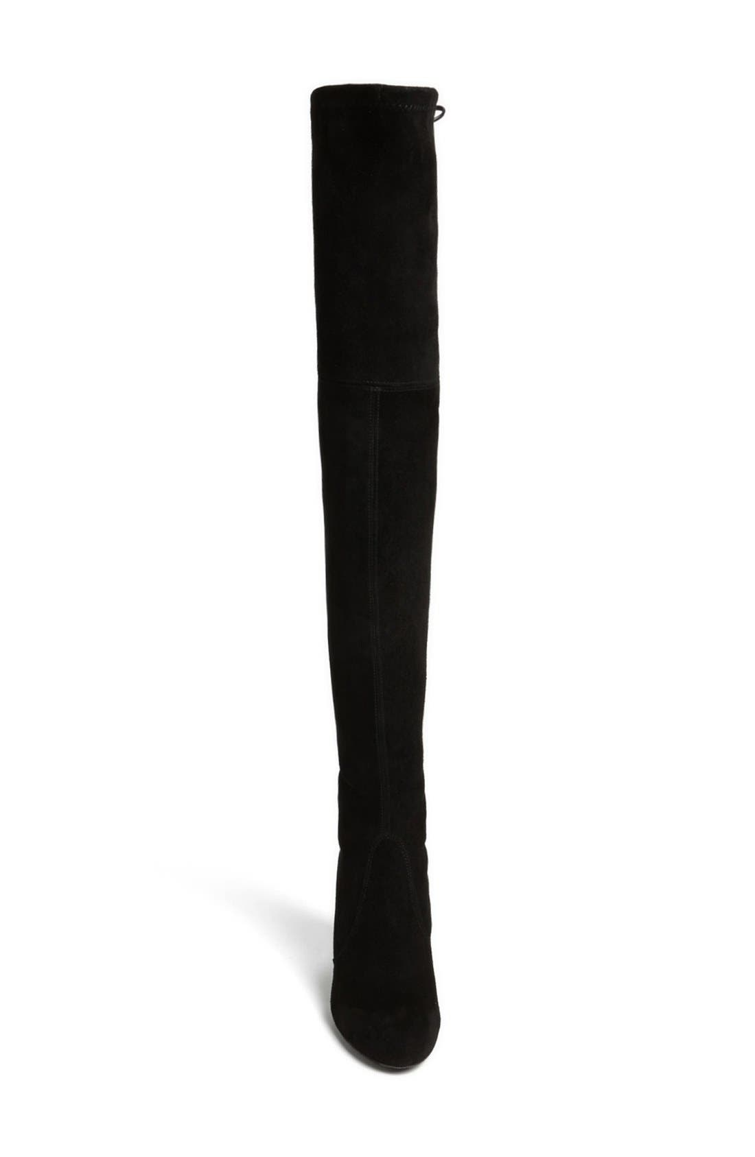 'Highland' Over the Knee Boot,                             Alternate thumbnail 6, color,                             BLACK SUEDE