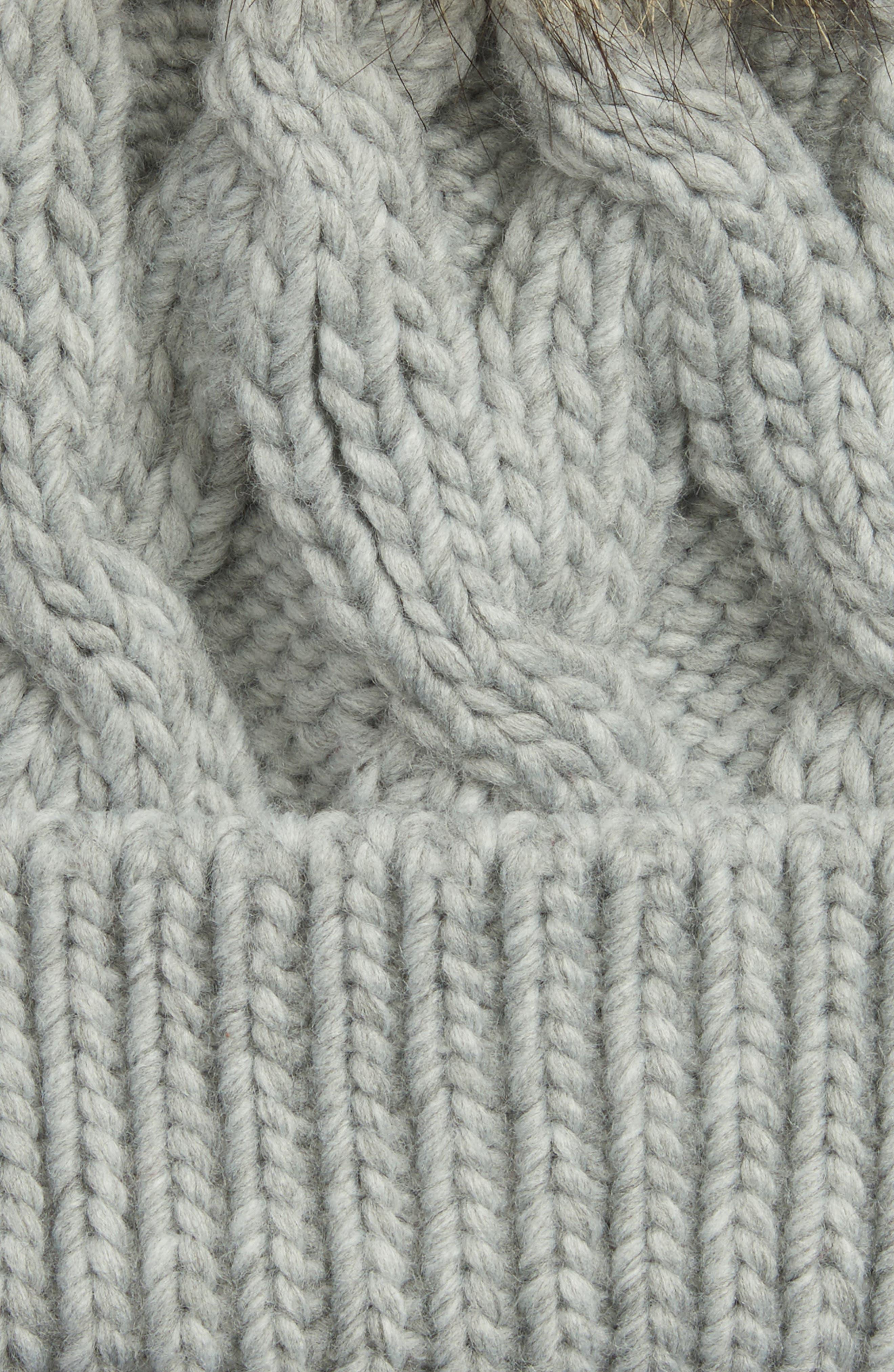 BARBOUR,                             Ashridge Beanie with Faux Fur Pom,                             Alternate thumbnail 2, color,                             050