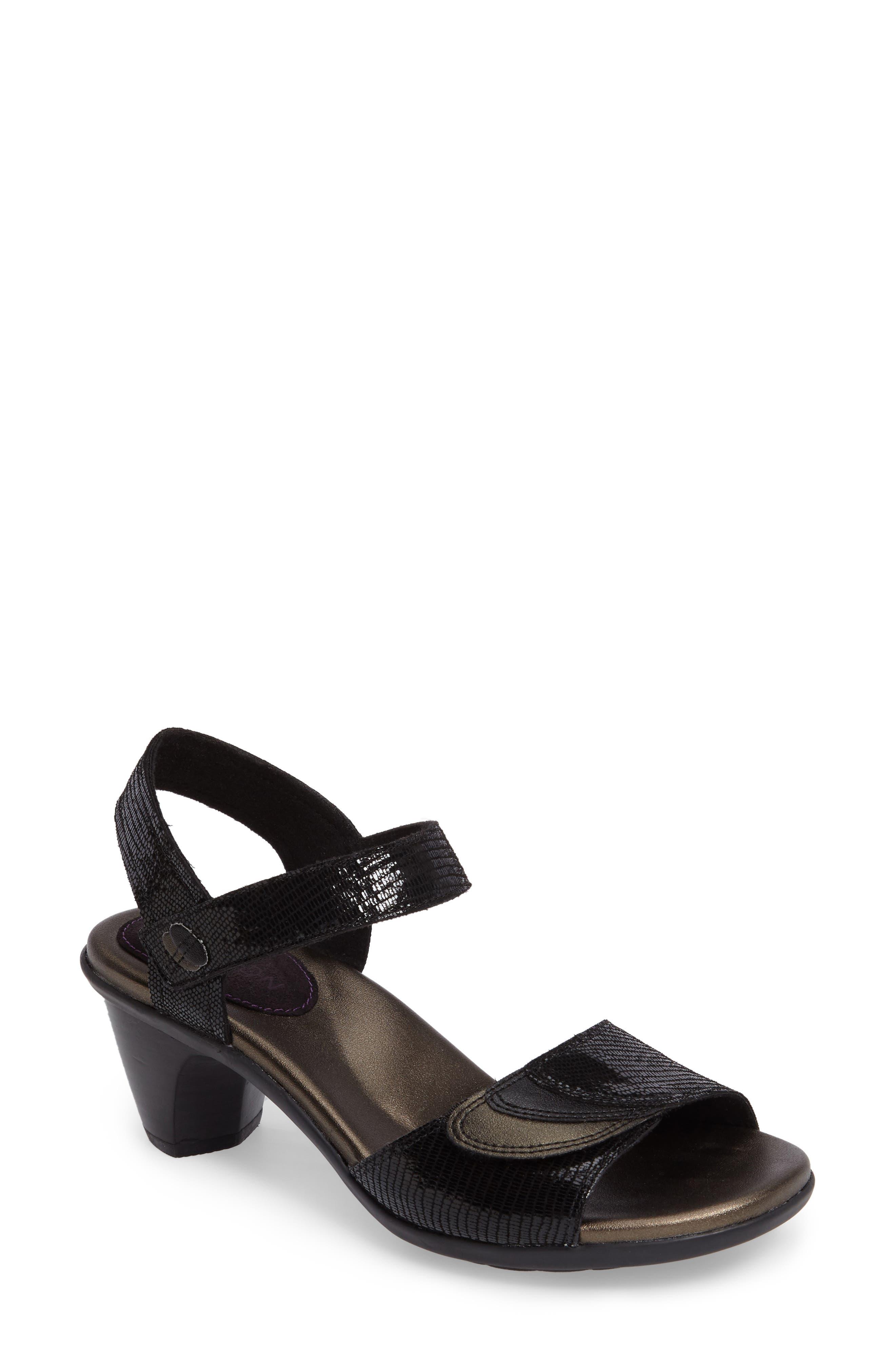 Medici Sandal,                             Main thumbnail 1, color,                             BLACK FABRIC