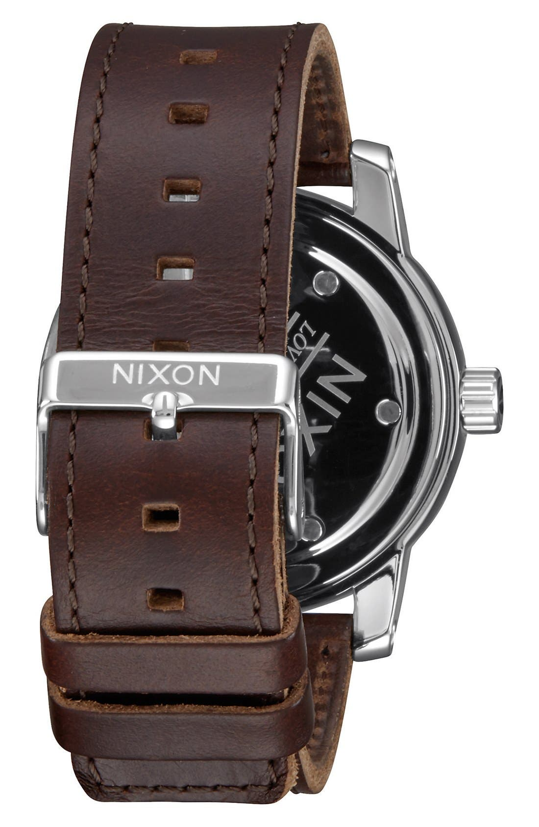 'The Patriot' Leather Strap Watch, 45mm,                             Alternate thumbnail 6, color,