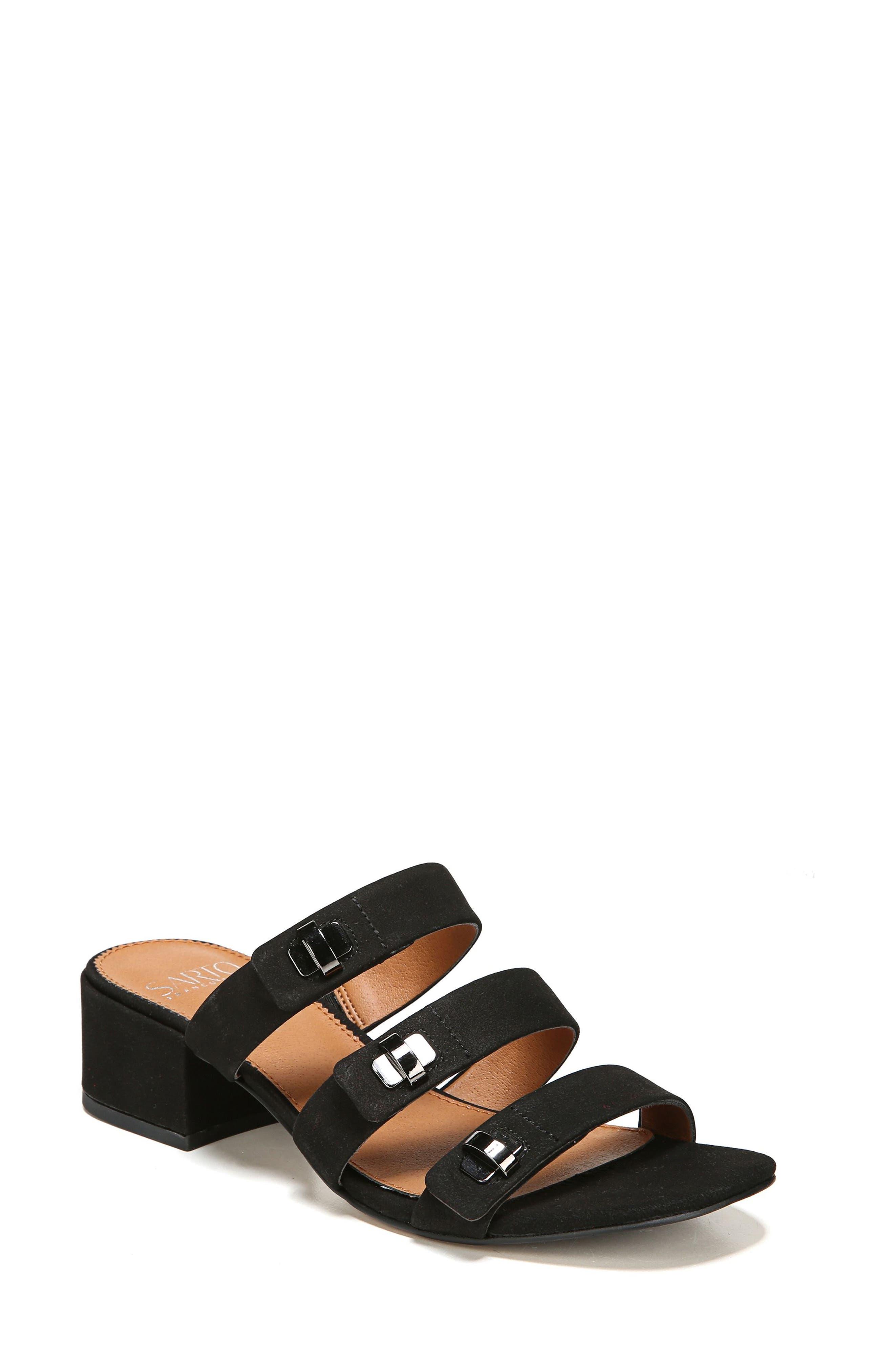 Arabesque Strappy Slide Sandal,                         Main,                         color, 001