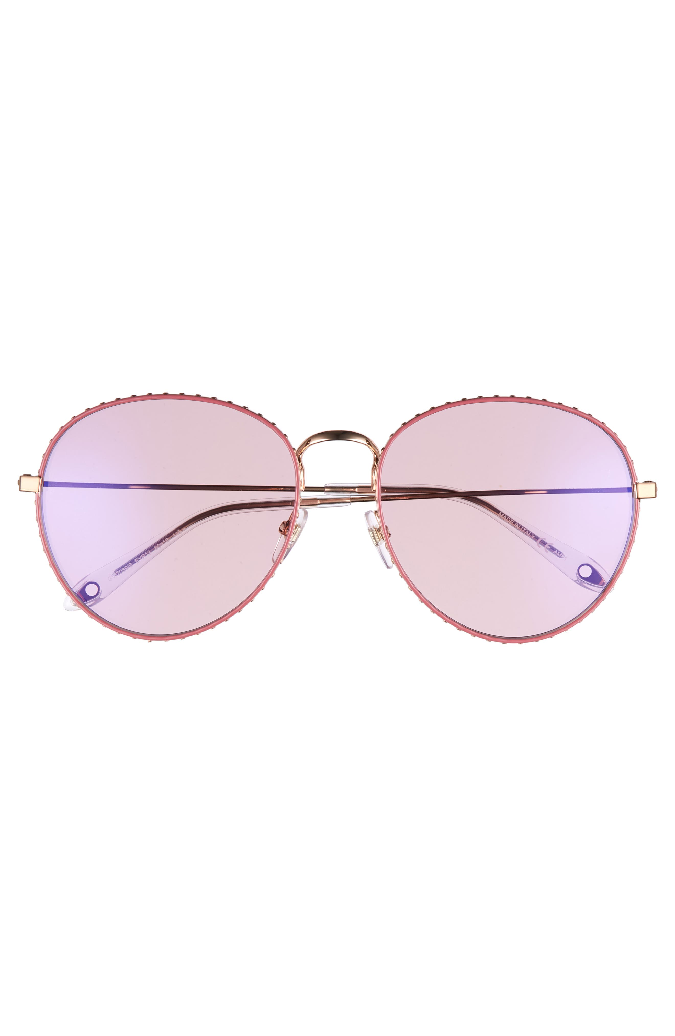 60mm Round Metal Sunglasses,                             Alternate thumbnail 3, color,                             710