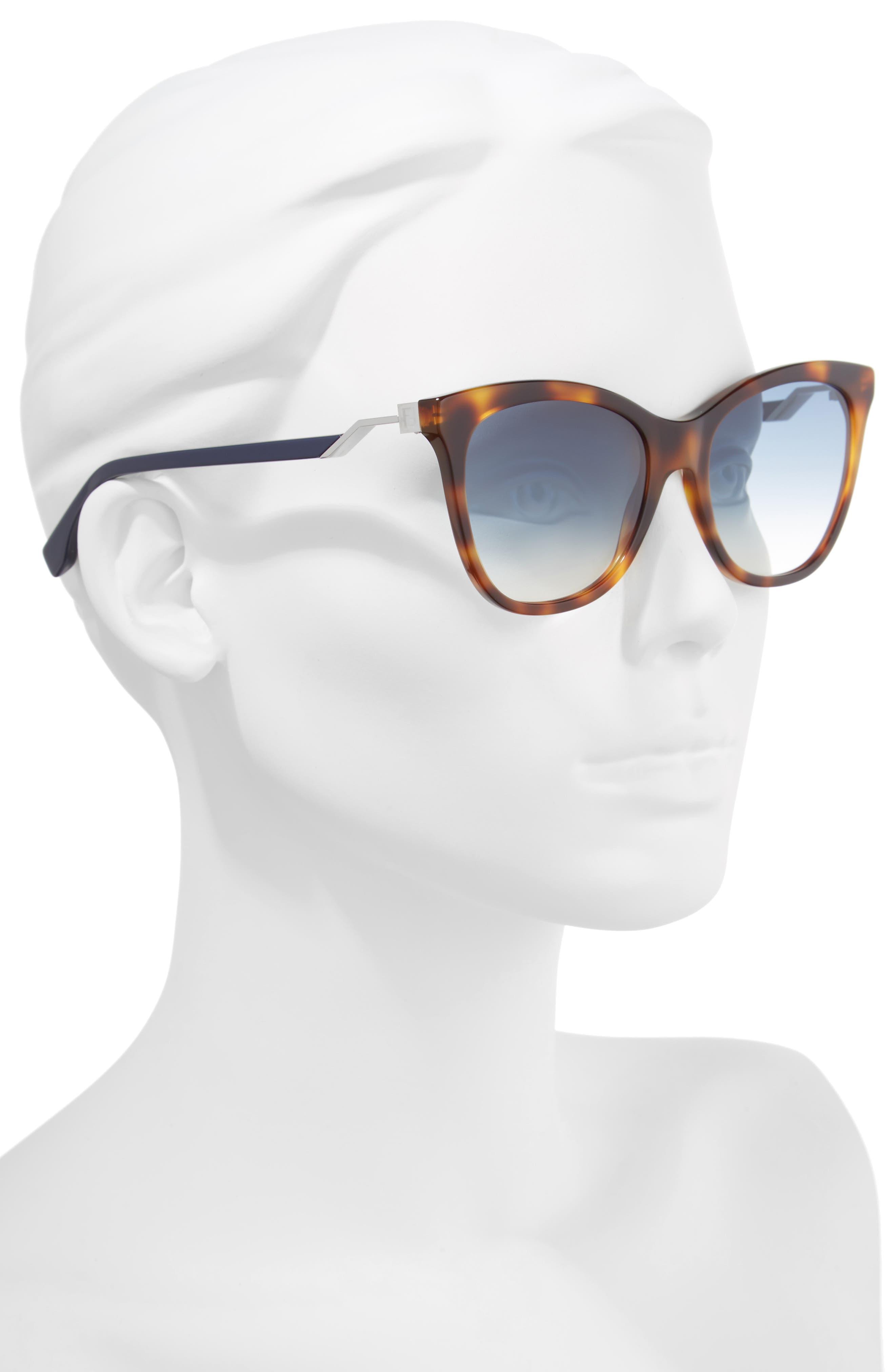 Cube 55mm Cat Eye Sunglasses,                             Alternate thumbnail 2, color,                             413