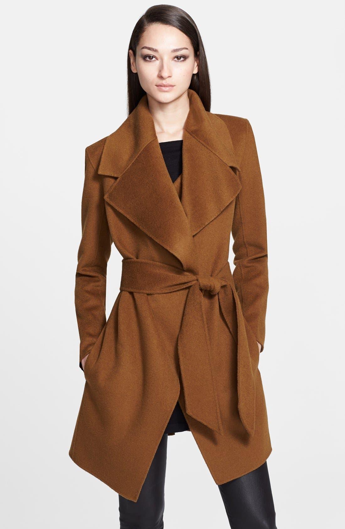 Donna Karan Collection Belted Cashmere Wrap Coat, Main, color, 930