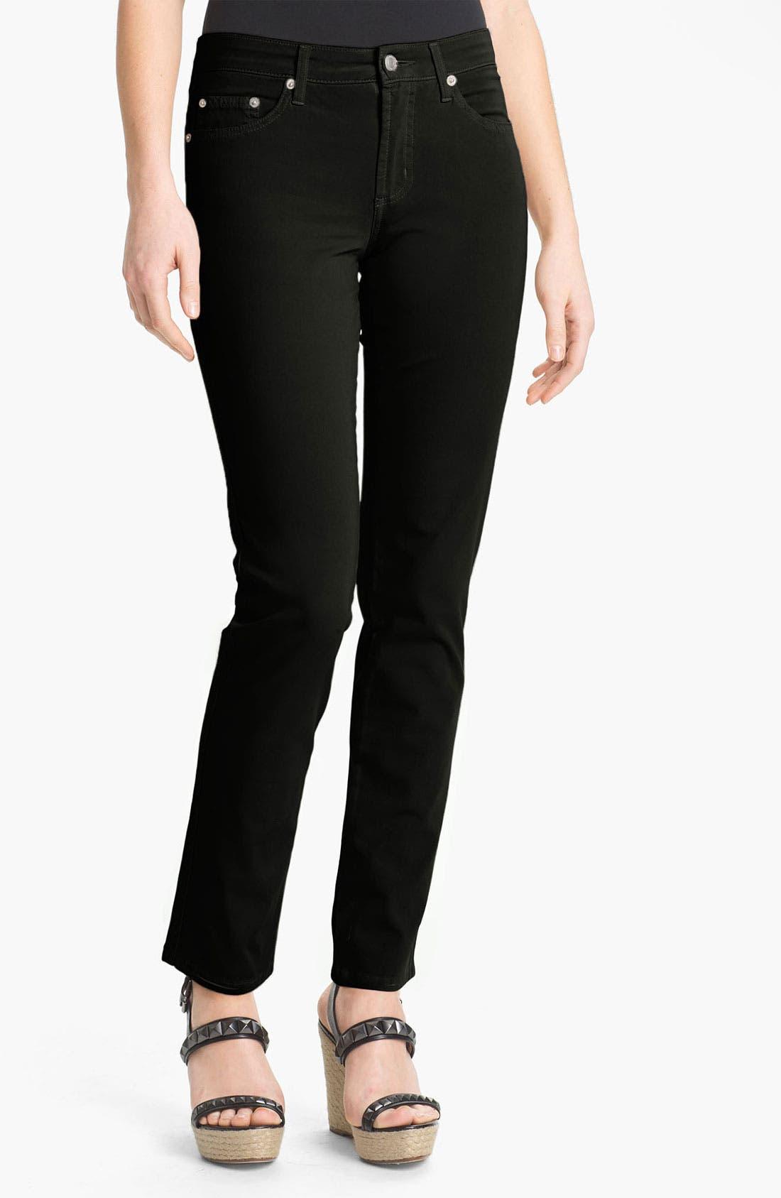 FABRIZIO GIANNI 5-Pocket Slim Stretch Jeans, Main, color, 001