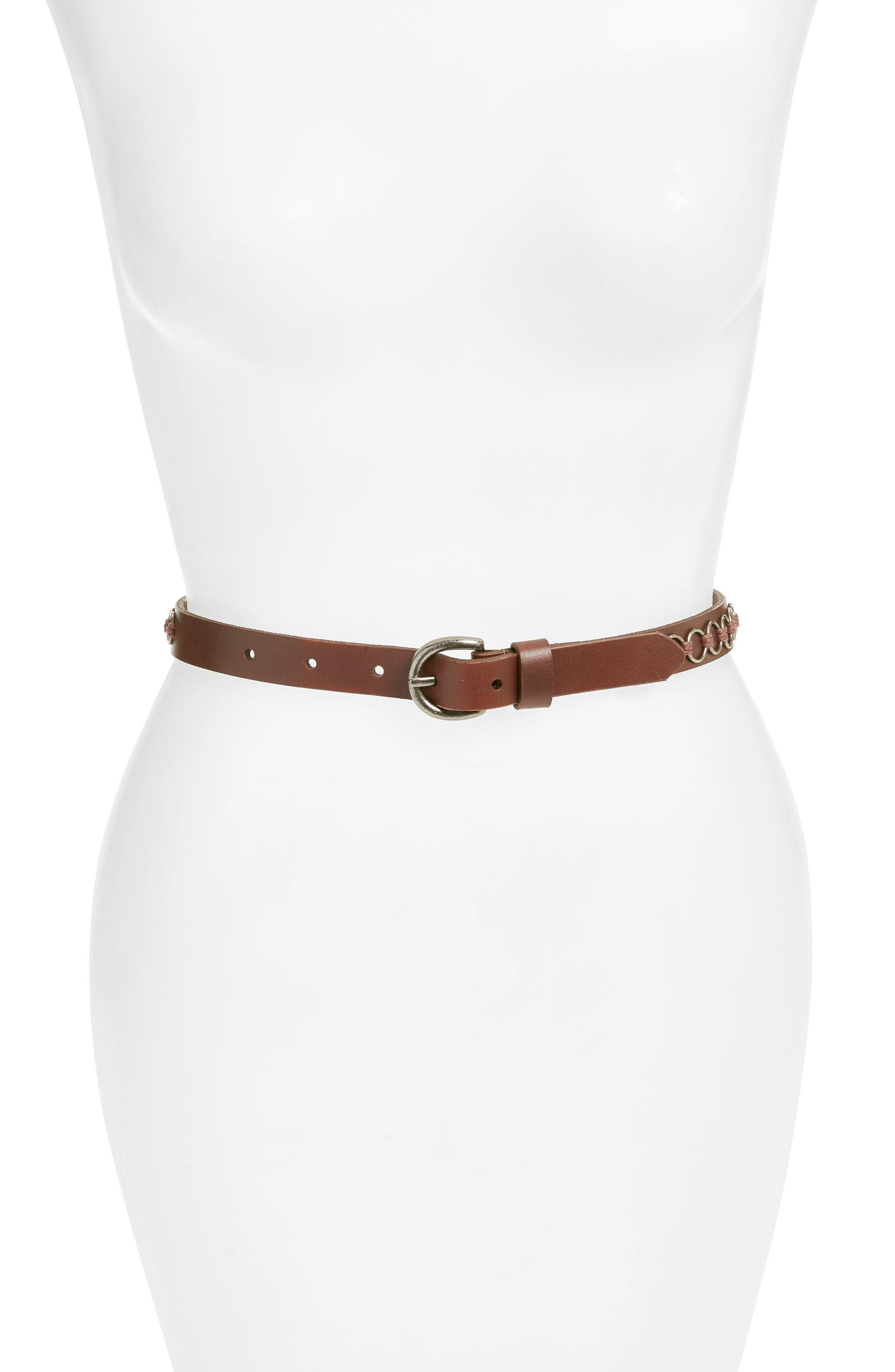 LODIS Leather Belt,                             Main thumbnail 1, color,                             200