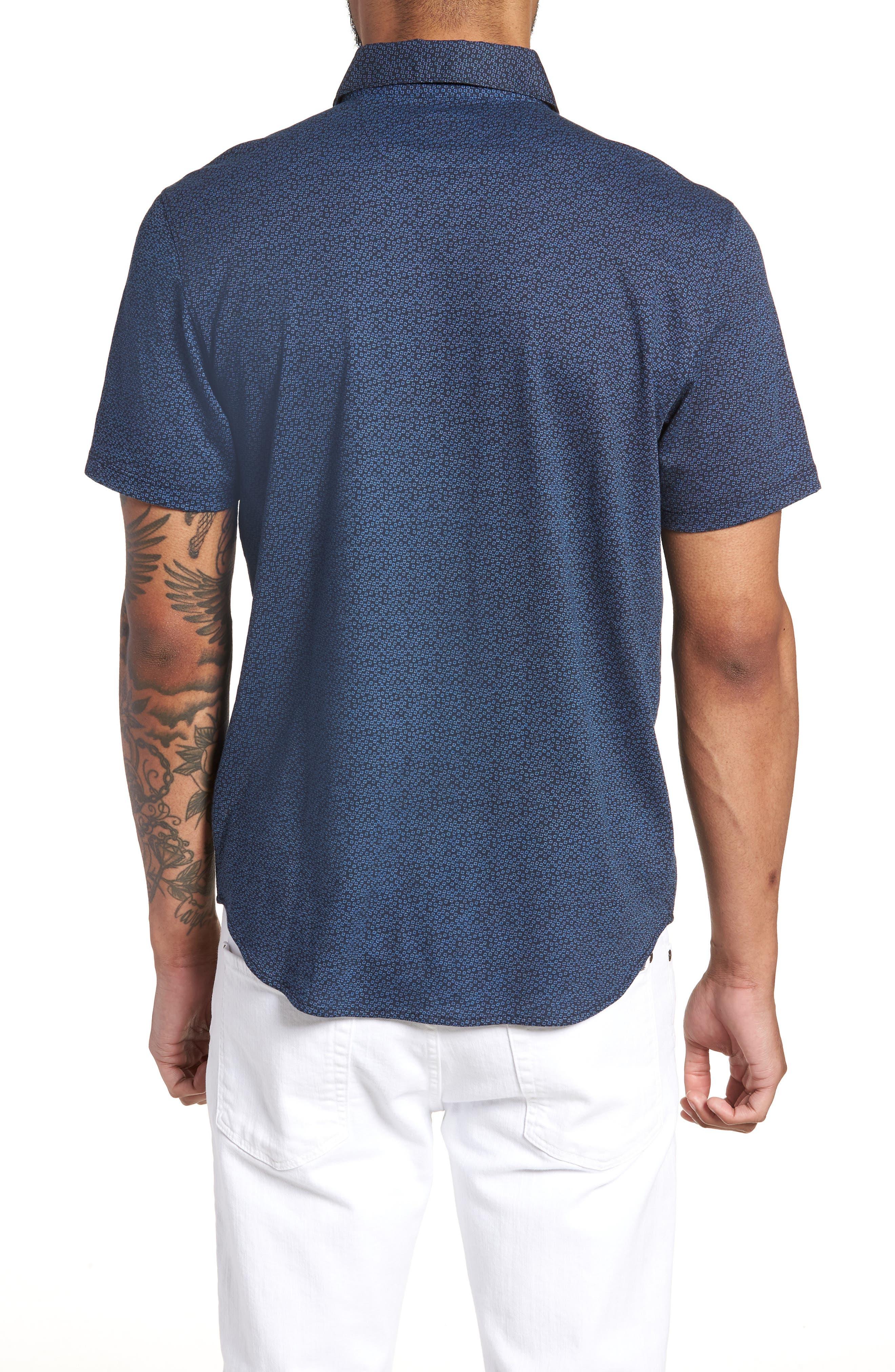 Clyde Slim Fit Sport Shirt,                             Alternate thumbnail 2, color,                             410