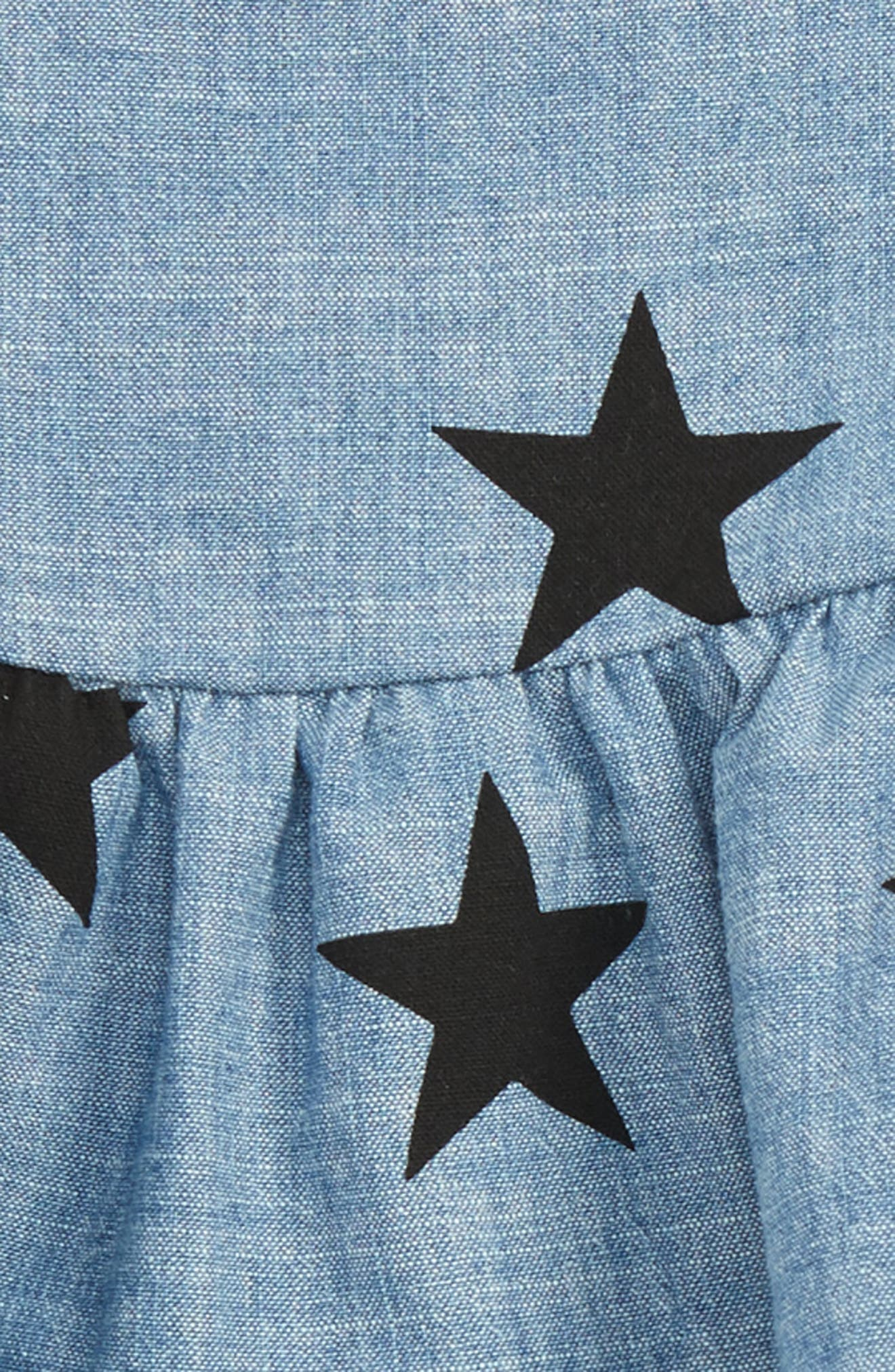 Chambray Star & Legging Set,                             Alternate thumbnail 3, color,                             409