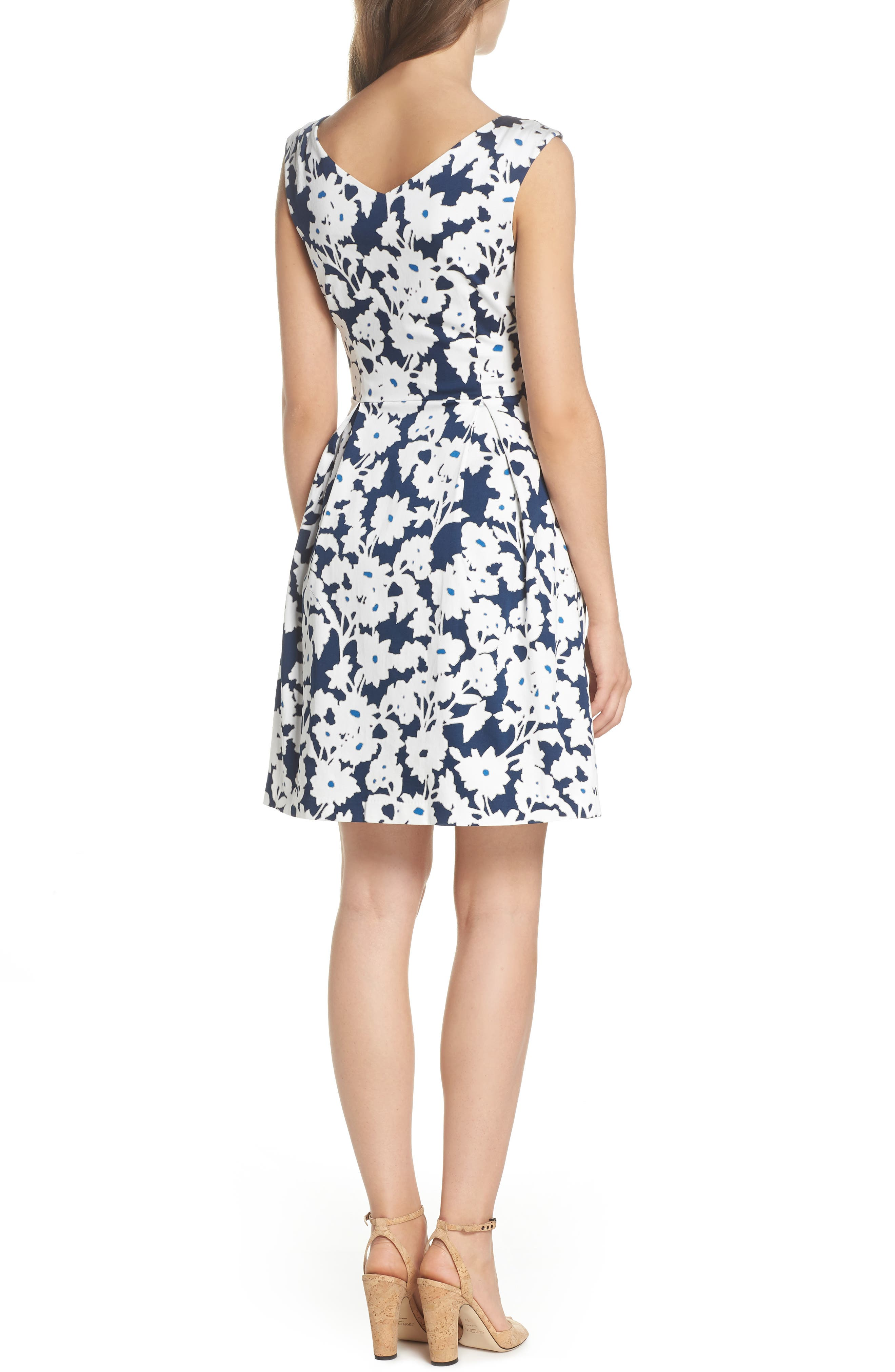 Daisy Field Fit & Flare Dress,                             Alternate thumbnail 2, color,                             480