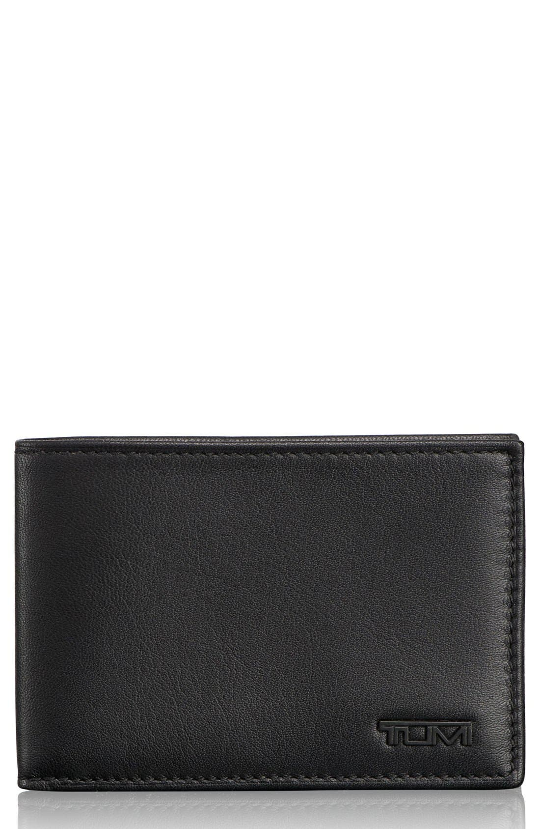 Delta ID Lock Shielded Slim Single Billfold,                             Main thumbnail 1, color,                             BLACK
