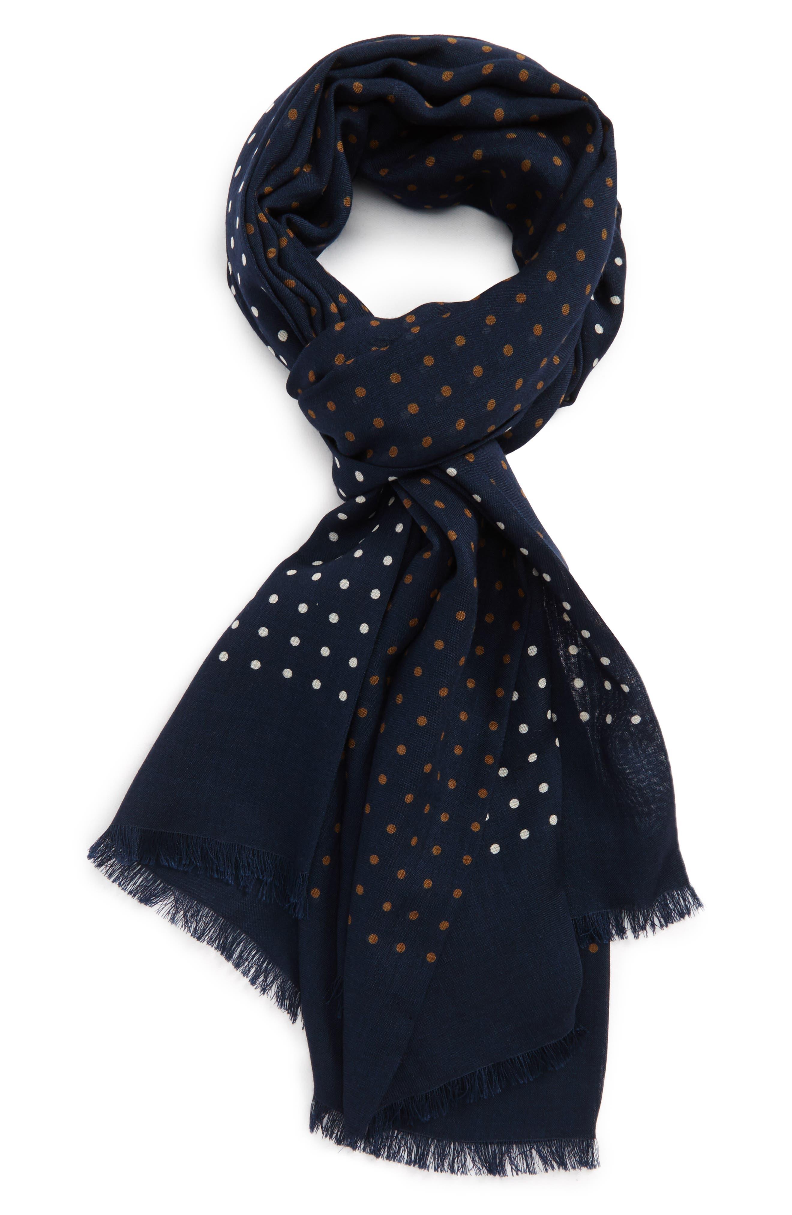 Drakes Dot Wool & Silk Scarf,                         Main,                         color, 411