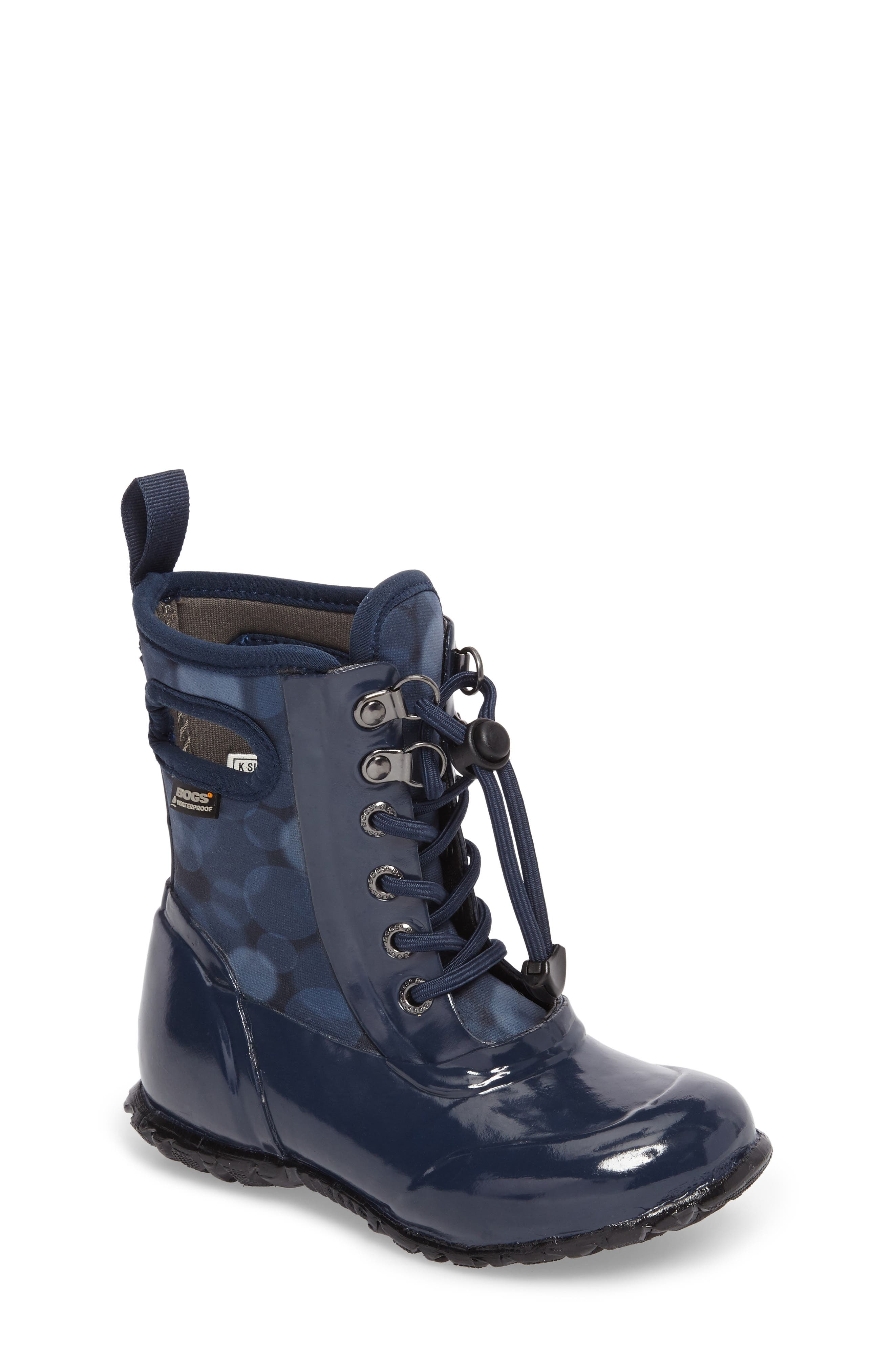 Sidney Waterproof Lace-Up Boot,                             Main thumbnail 1, color,