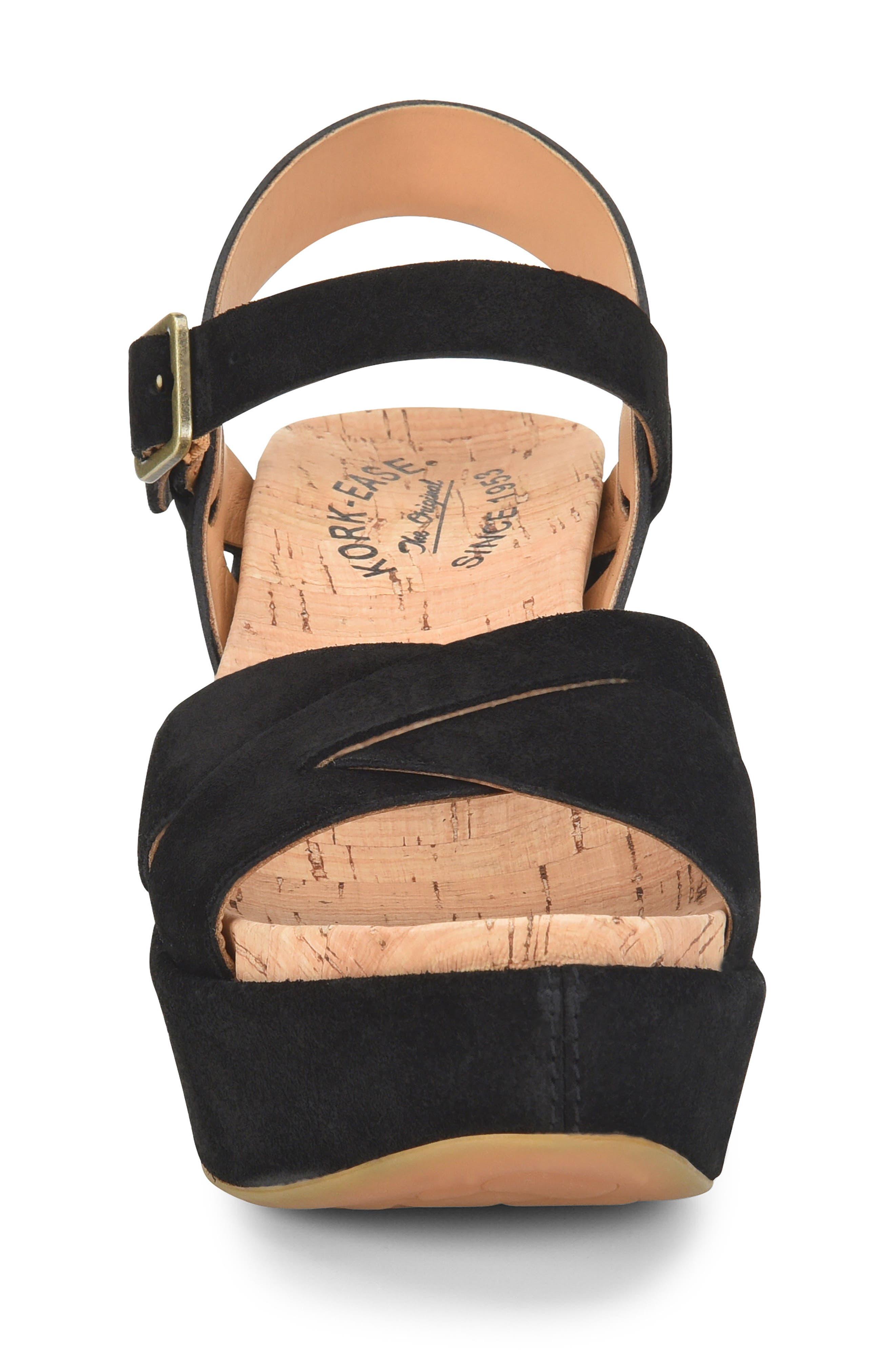 'Ava 2.0' Platform Wedge Sandal,                             Alternate thumbnail 4, color,                             BLACK SUEDE 2