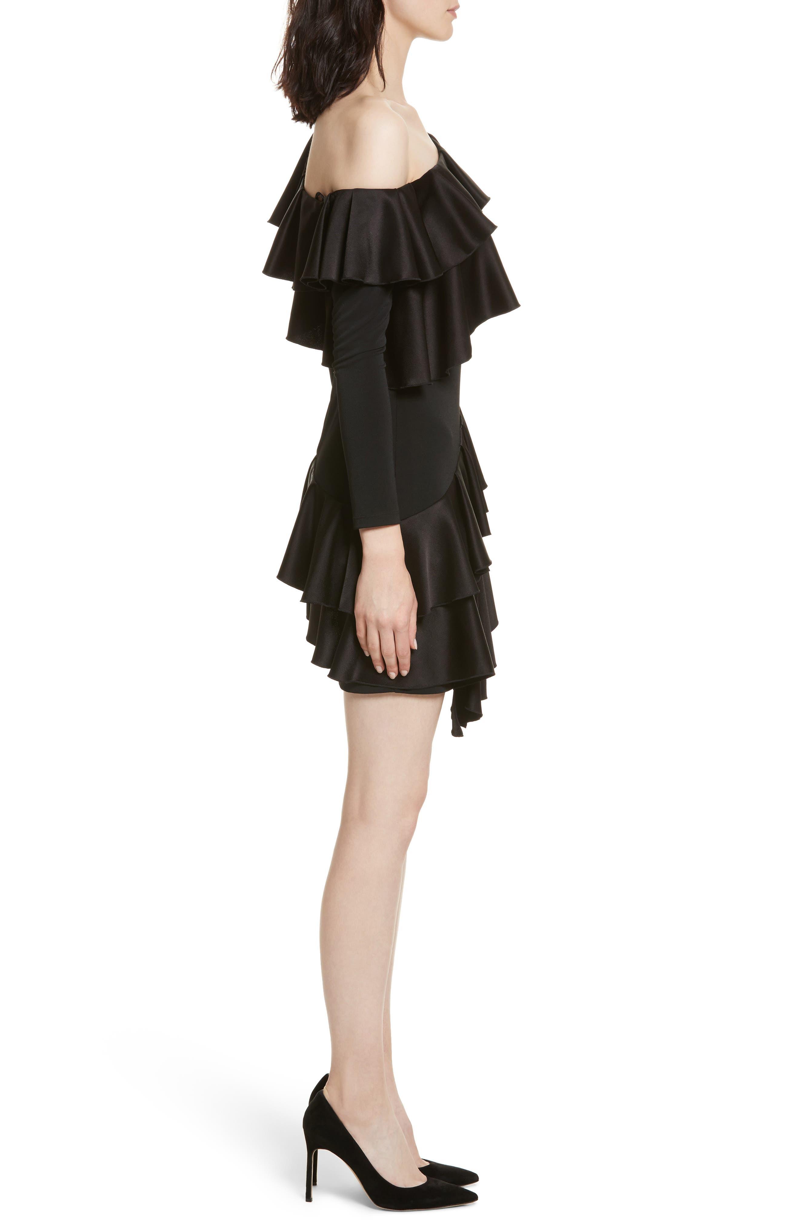 Izzy One-Shoulder Ruffle Dress,                             Alternate thumbnail 3, color,