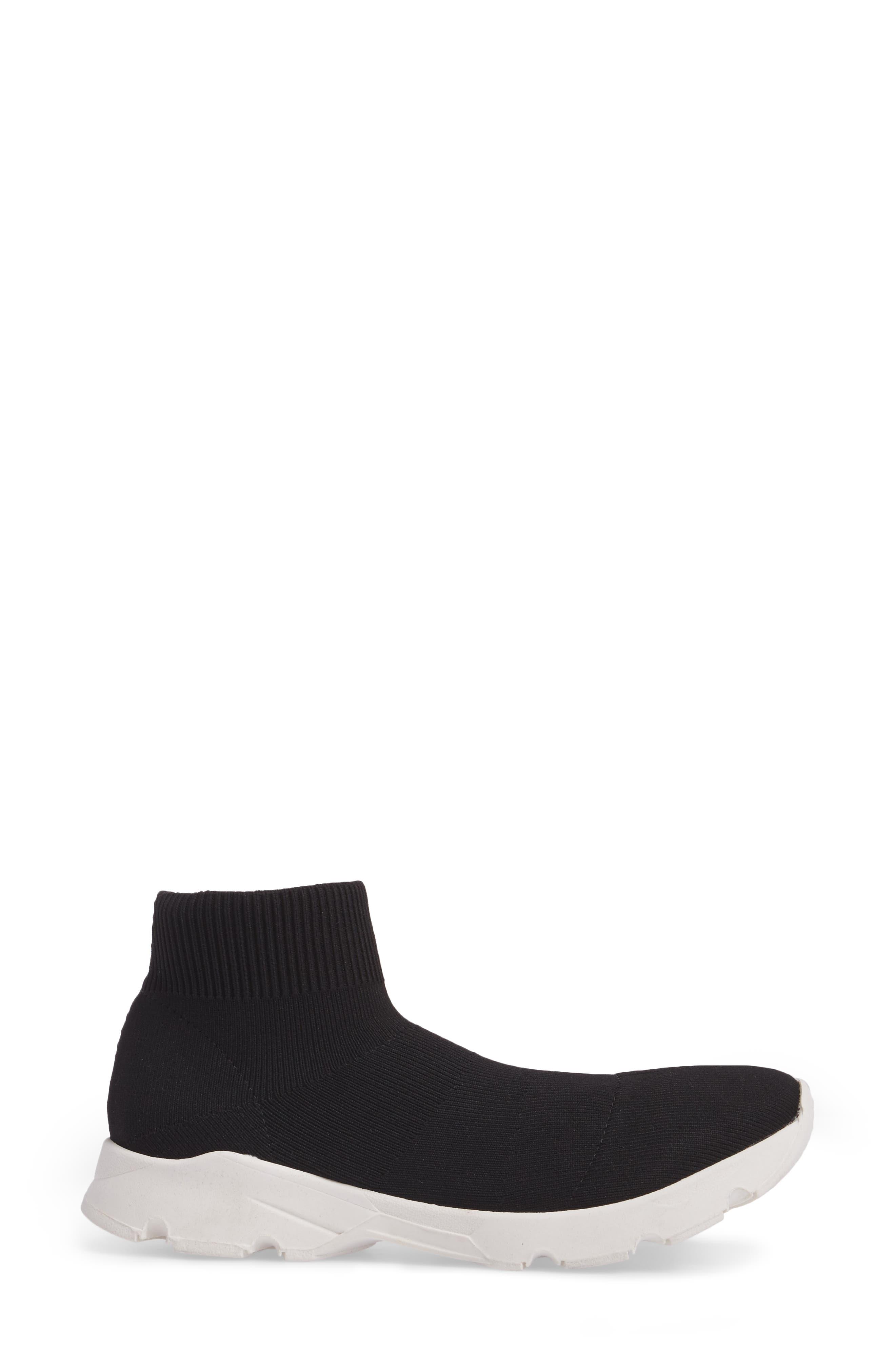 Winston Knit High Top Sneaker,                             Alternate thumbnail 3, color,                             001