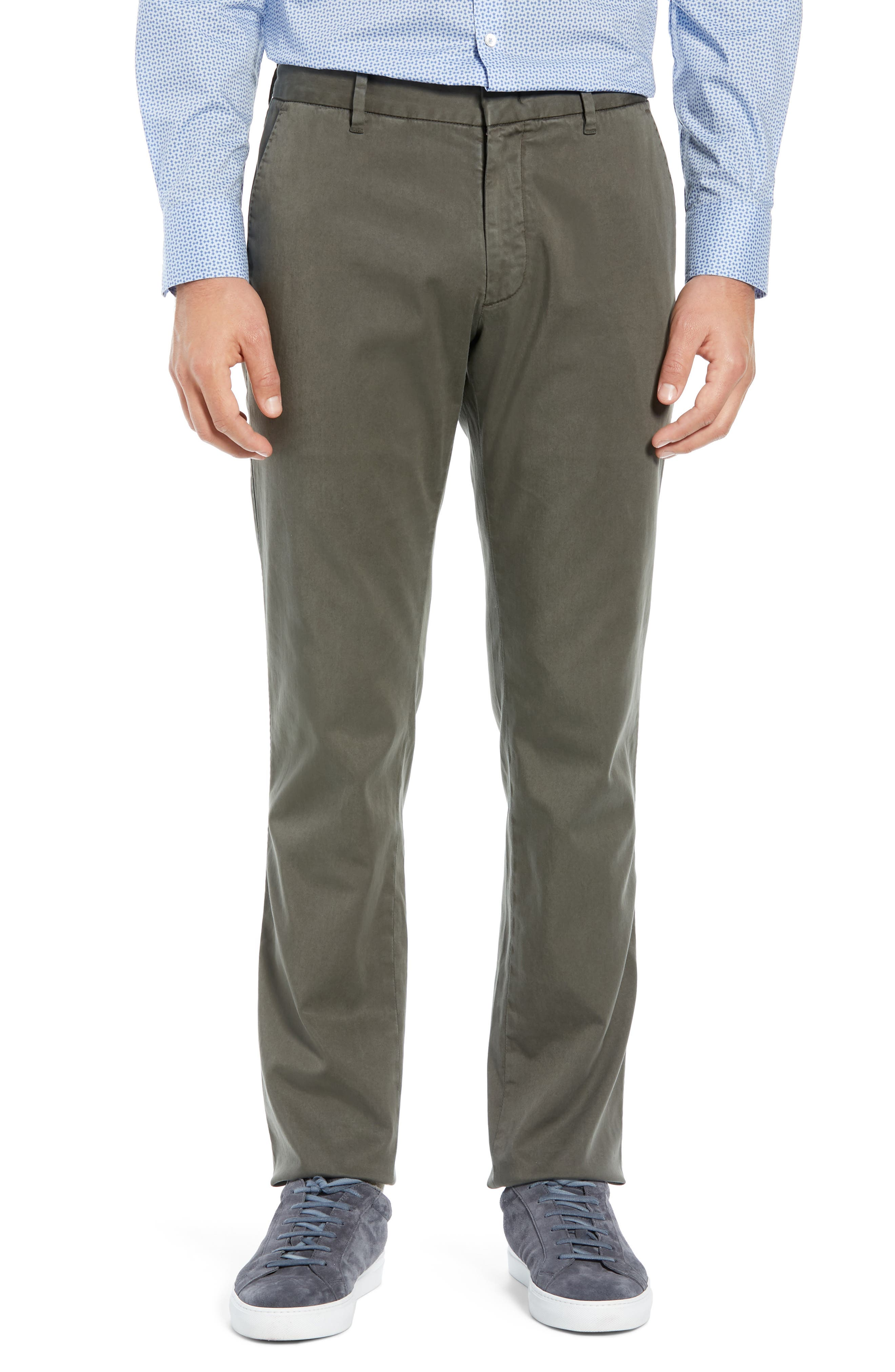 Aster Straight Fit Pants,                         Main,                         color, OLIVE