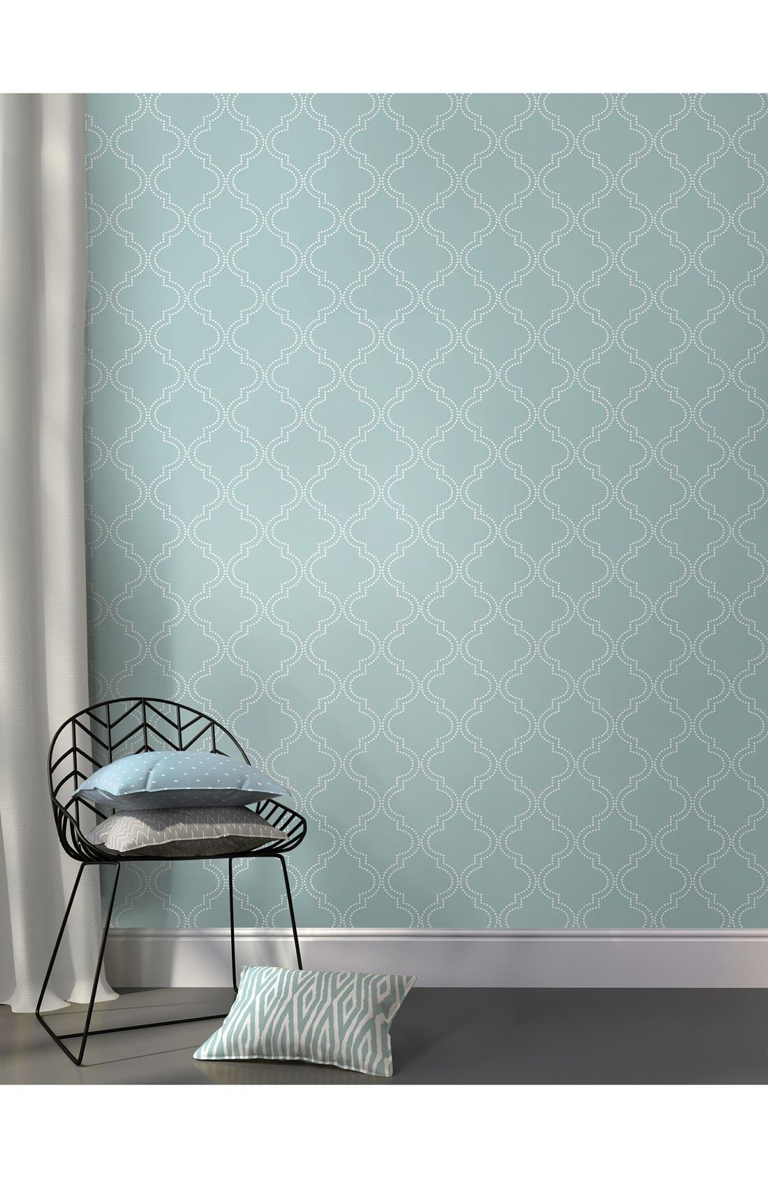 'Quatrefoil'  Peel & Stick Vinyl Wallpaper,                             Alternate thumbnail 5, color,                             401