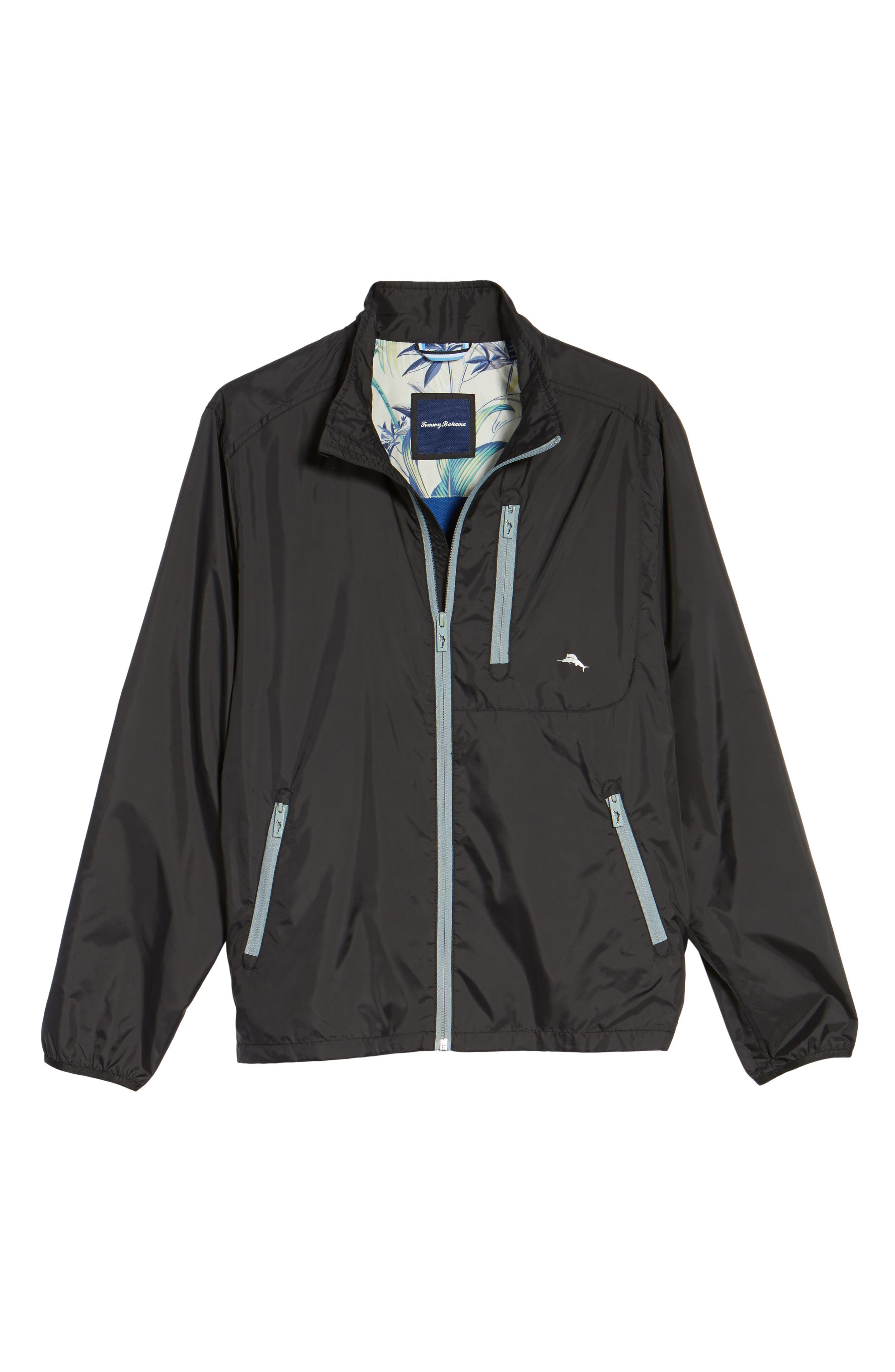 Nine Iron Water-Repellent Jacket,                             Alternate thumbnail 5, color,                             001