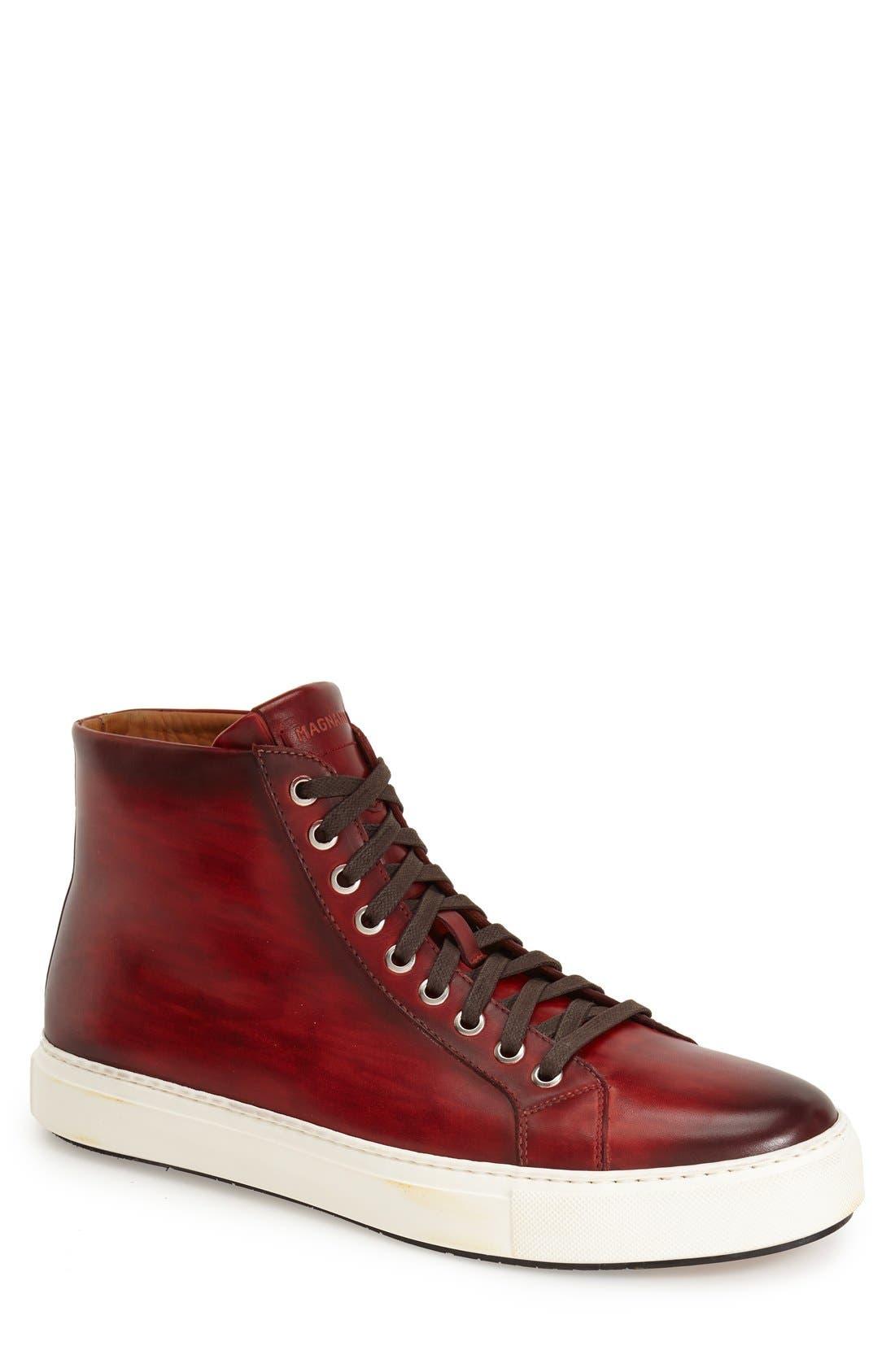 Brando High Top Sneaker,                             Main thumbnail 1, color,                             RED