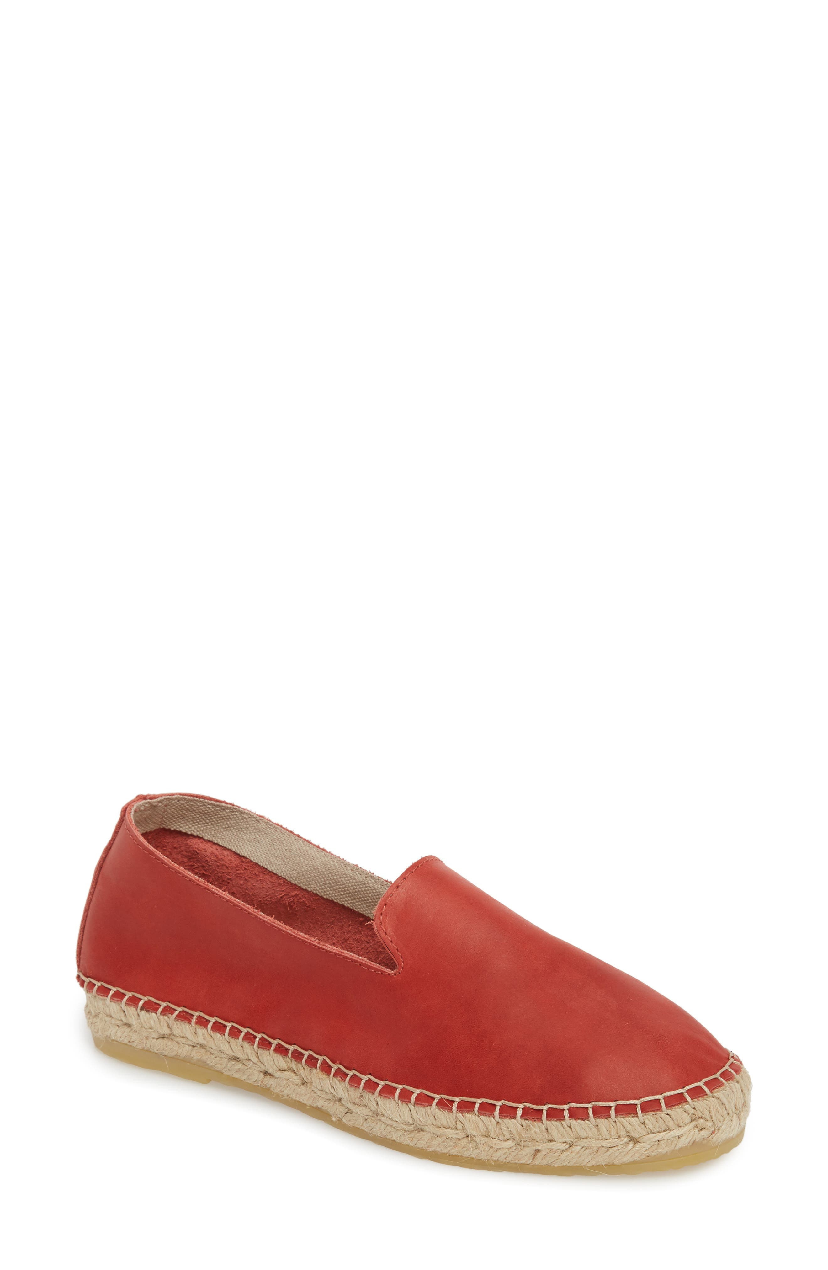 Laurel Canyon Espadrille Slip-On,                             Main thumbnail 1, color,                             RED