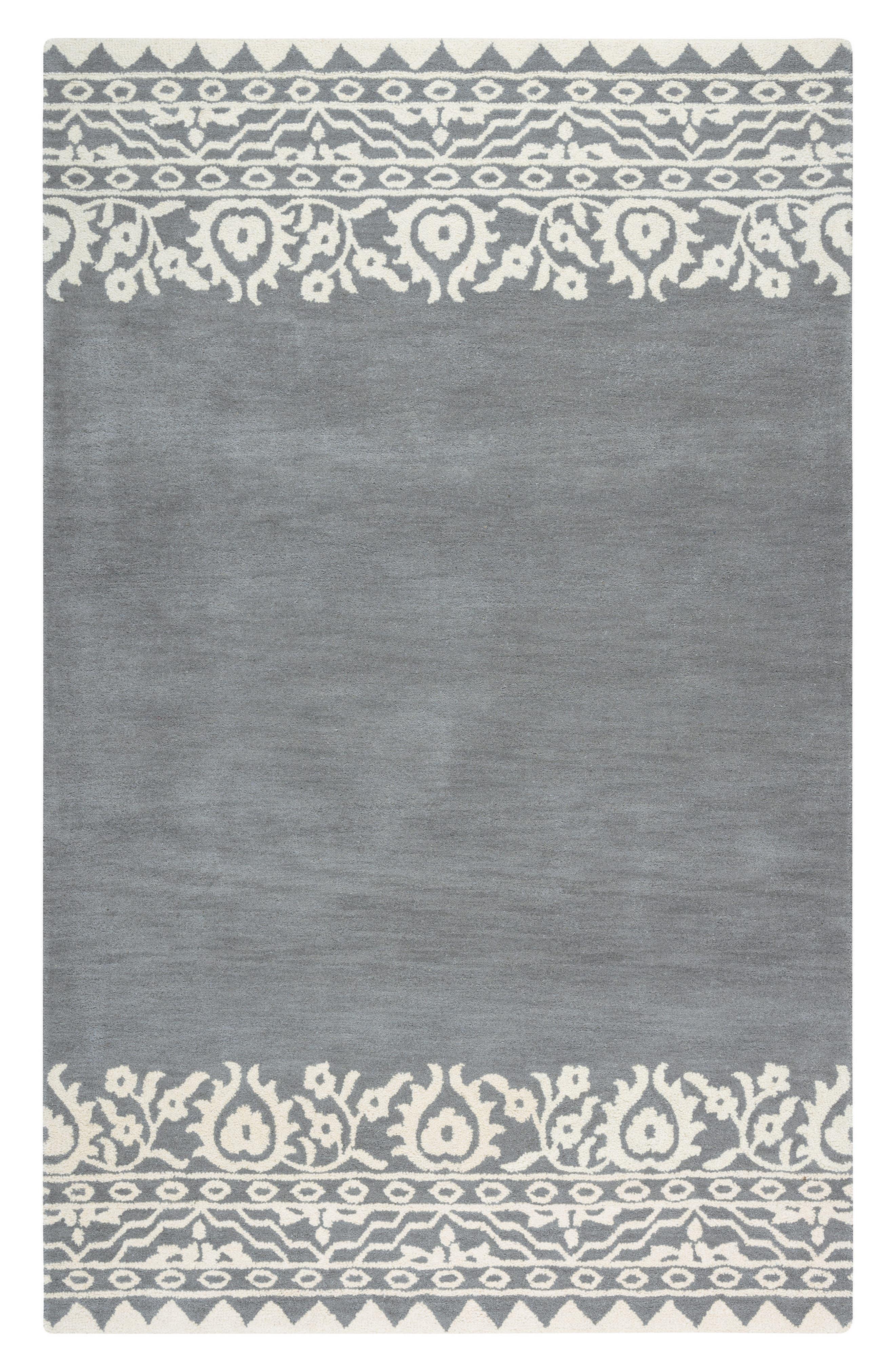 Framed Medallion Hand Tufted Wool Area Rug,                             Main thumbnail 2, color,