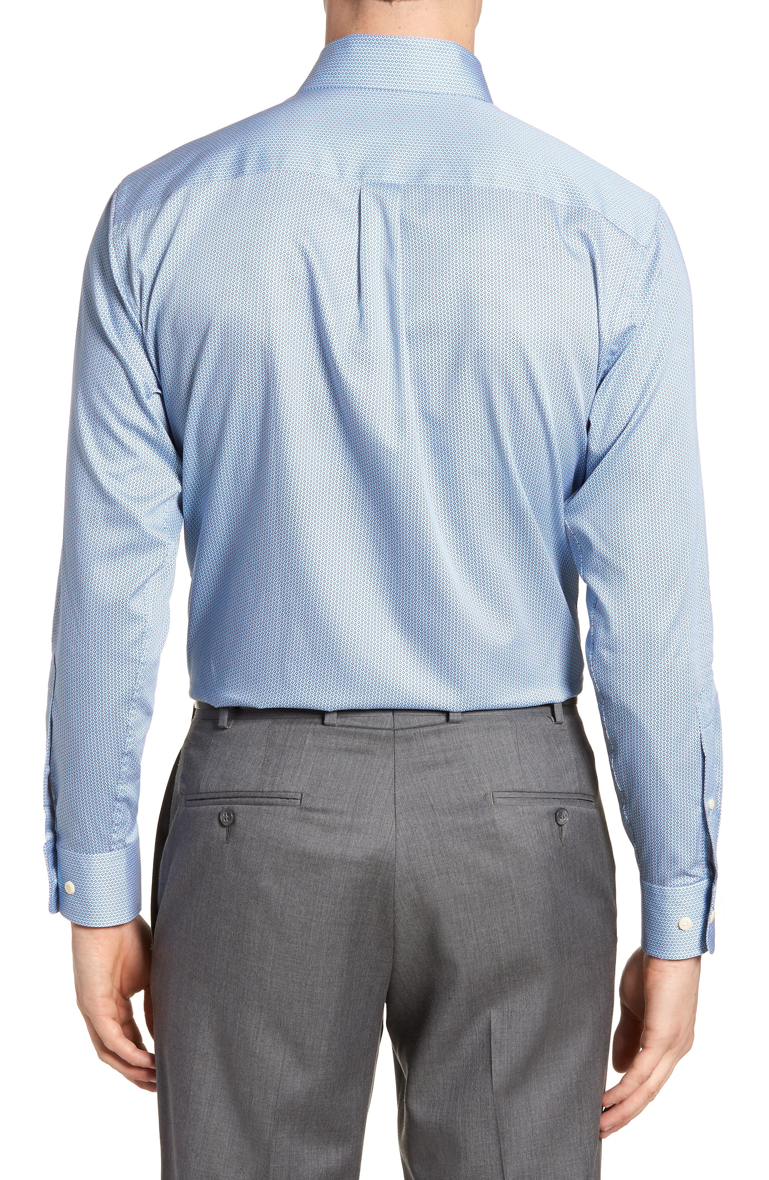 Geo Petal Sport Shirt,                             Alternate thumbnail 2, color,                             GROTTO BLUE