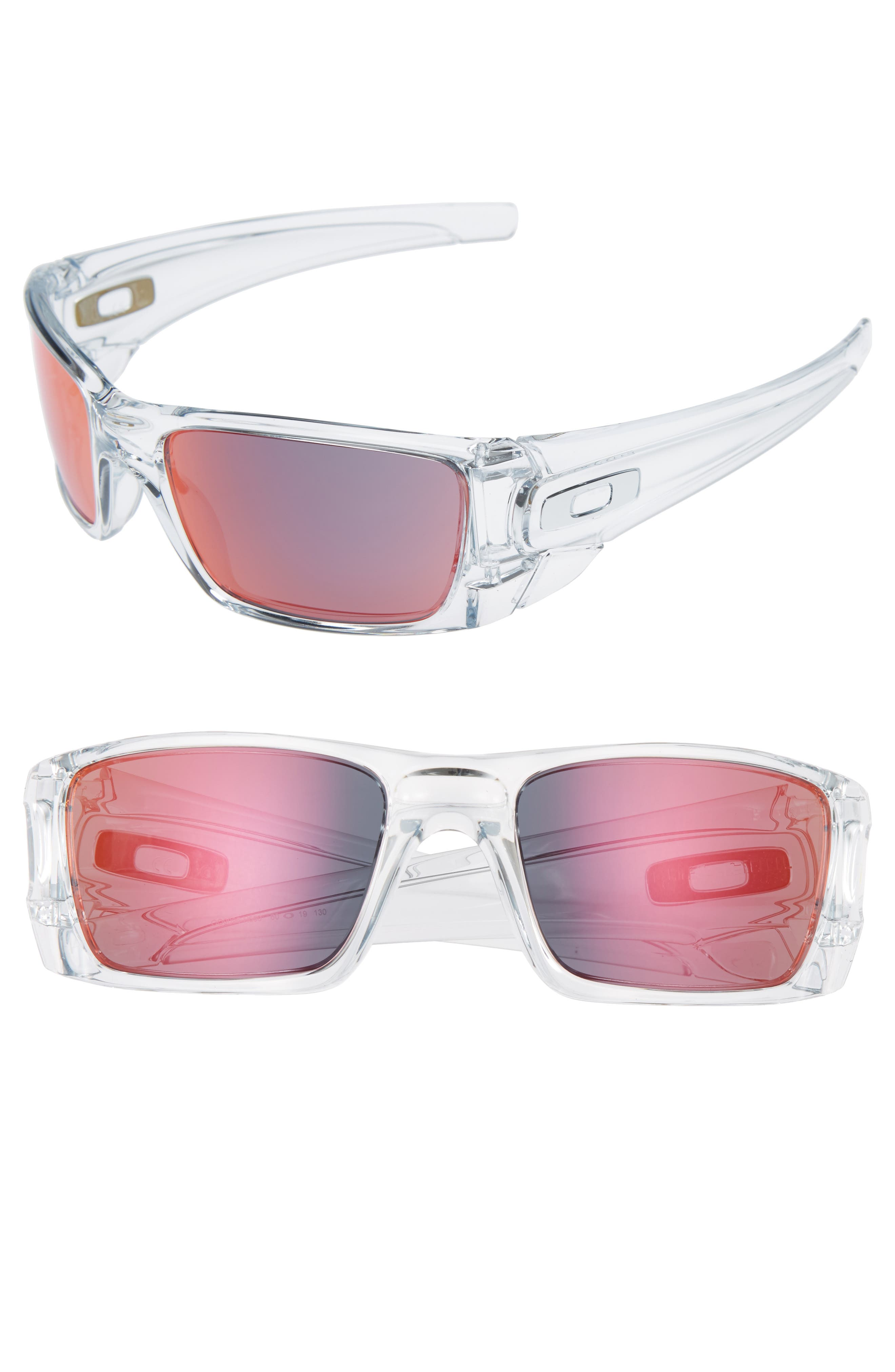 Fuel Cell 60mm Sunglasses,                             Main thumbnail 1, color,                             CLEAR