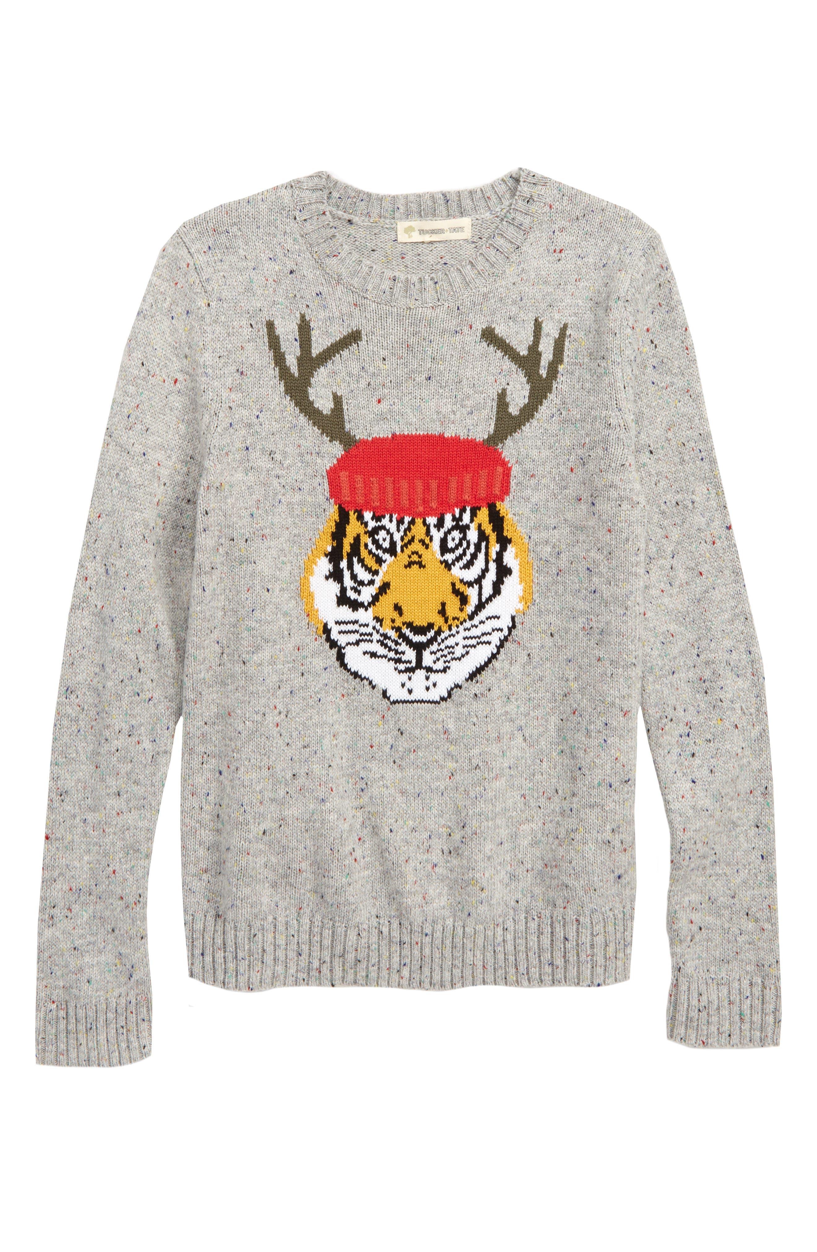 Intarsia Knit Sweater,                             Main thumbnail 1, color,                             050