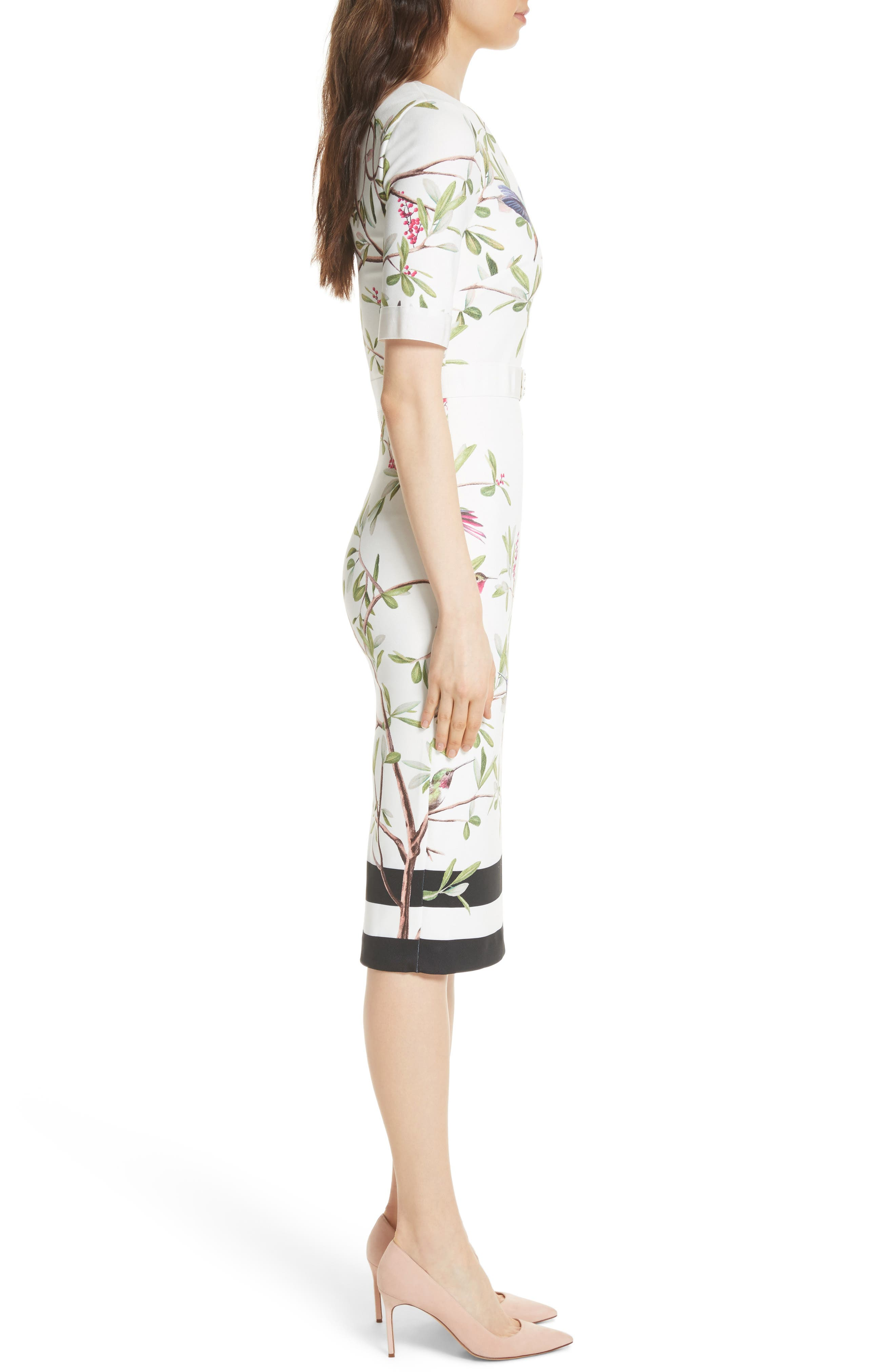 Highgrove Body-Con Dress,                             Alternate thumbnail 3, color,                             110