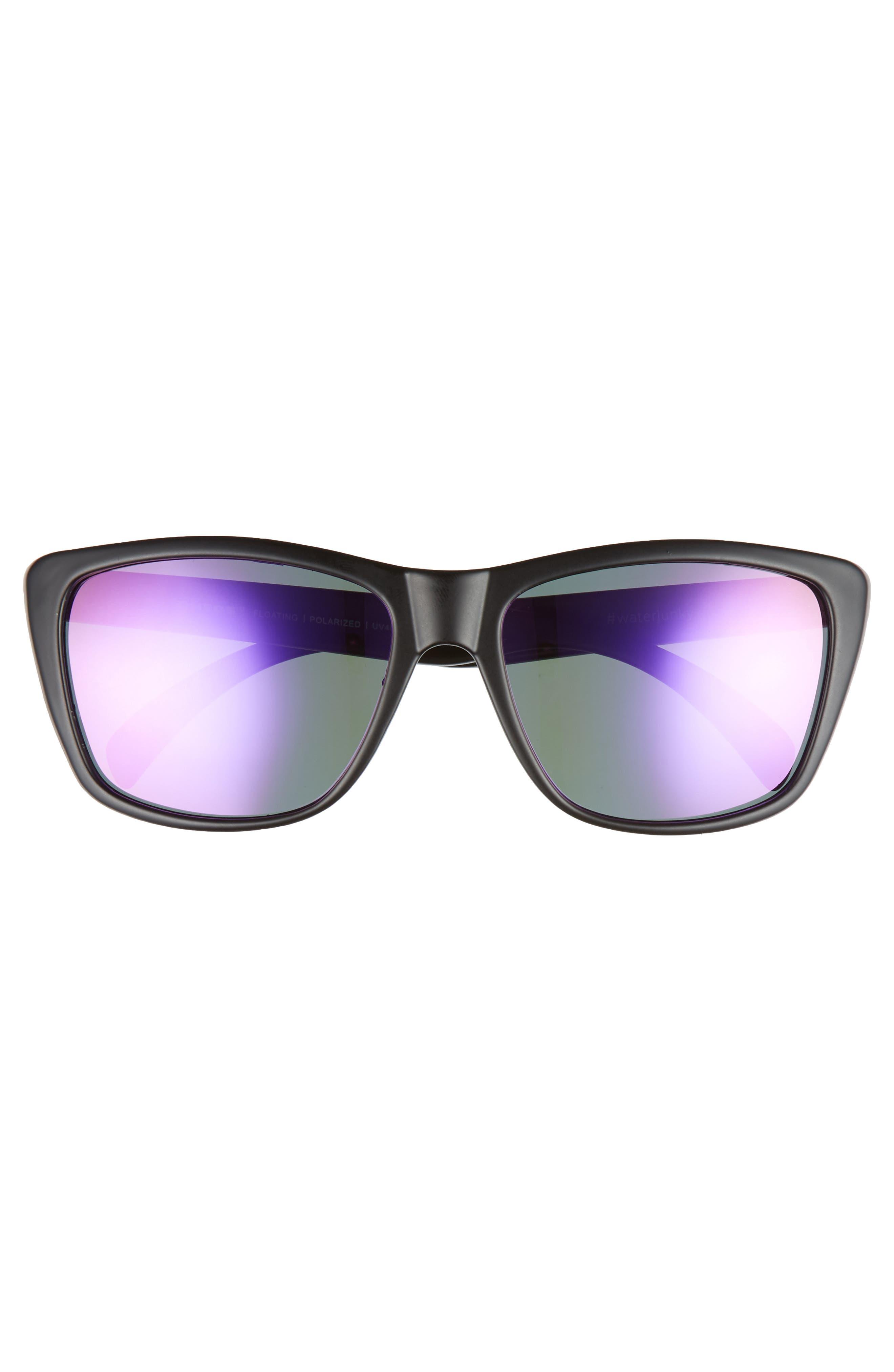 Sapelos Floating 60mm Polarized Sunglasses,                             Alternate thumbnail 2, color,                             GUNMETAL / PURPLE