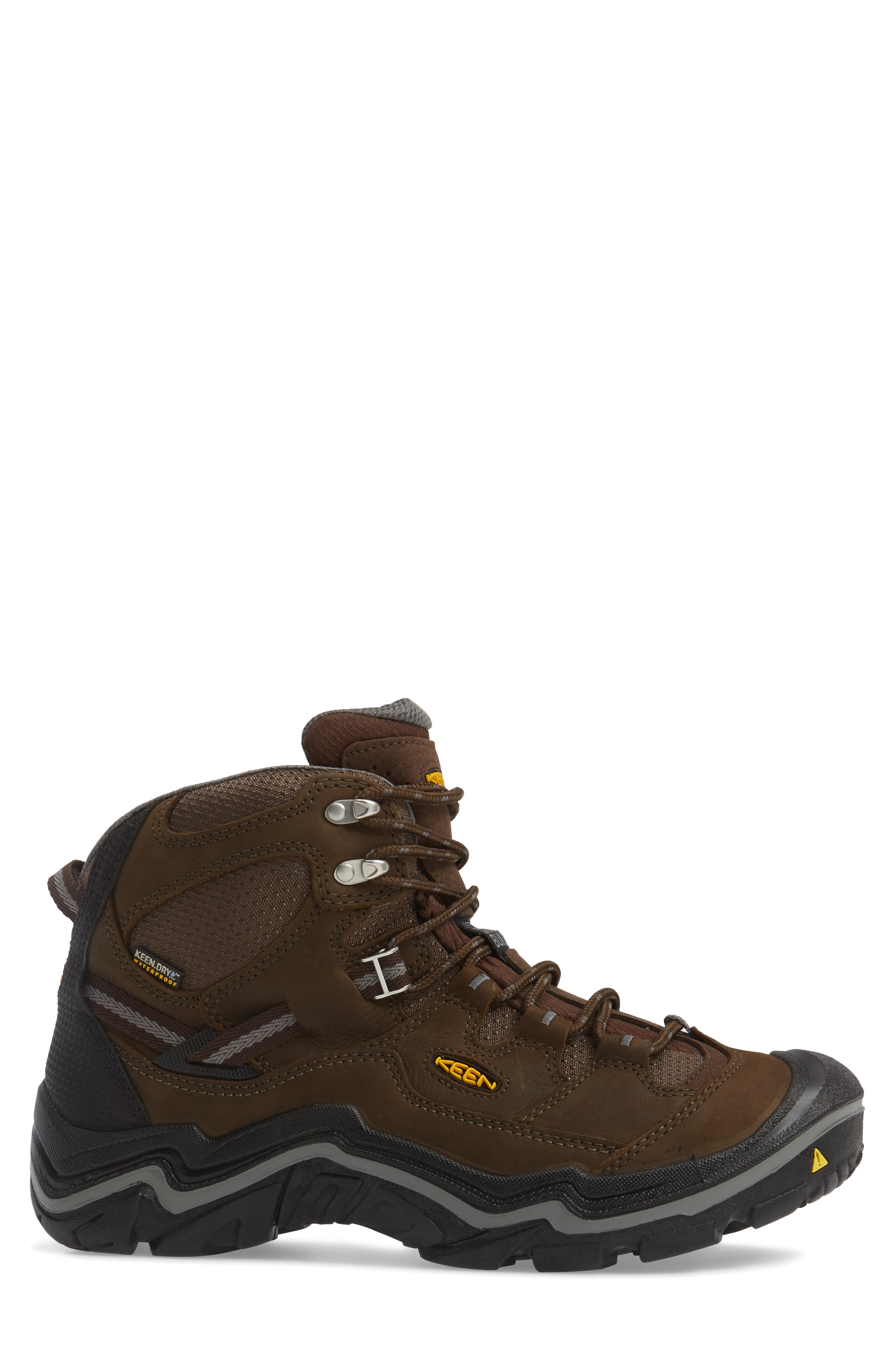 Durand Mid Waterproof Hiking Boot,                             Alternate thumbnail 3, color,                             BROWN LEATHER