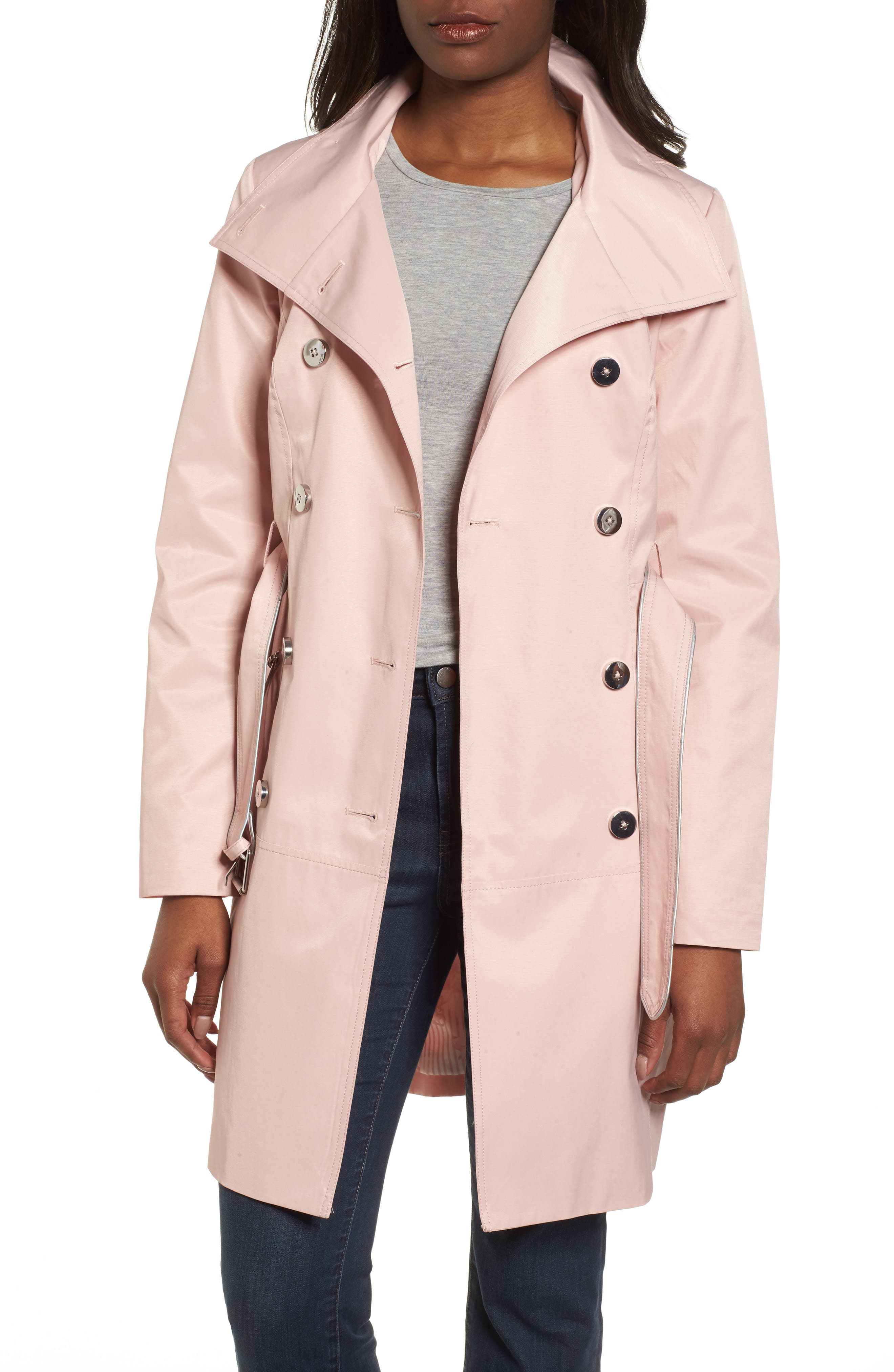 Hooded Piped Trench Coat,                             Alternate thumbnail 9, color,