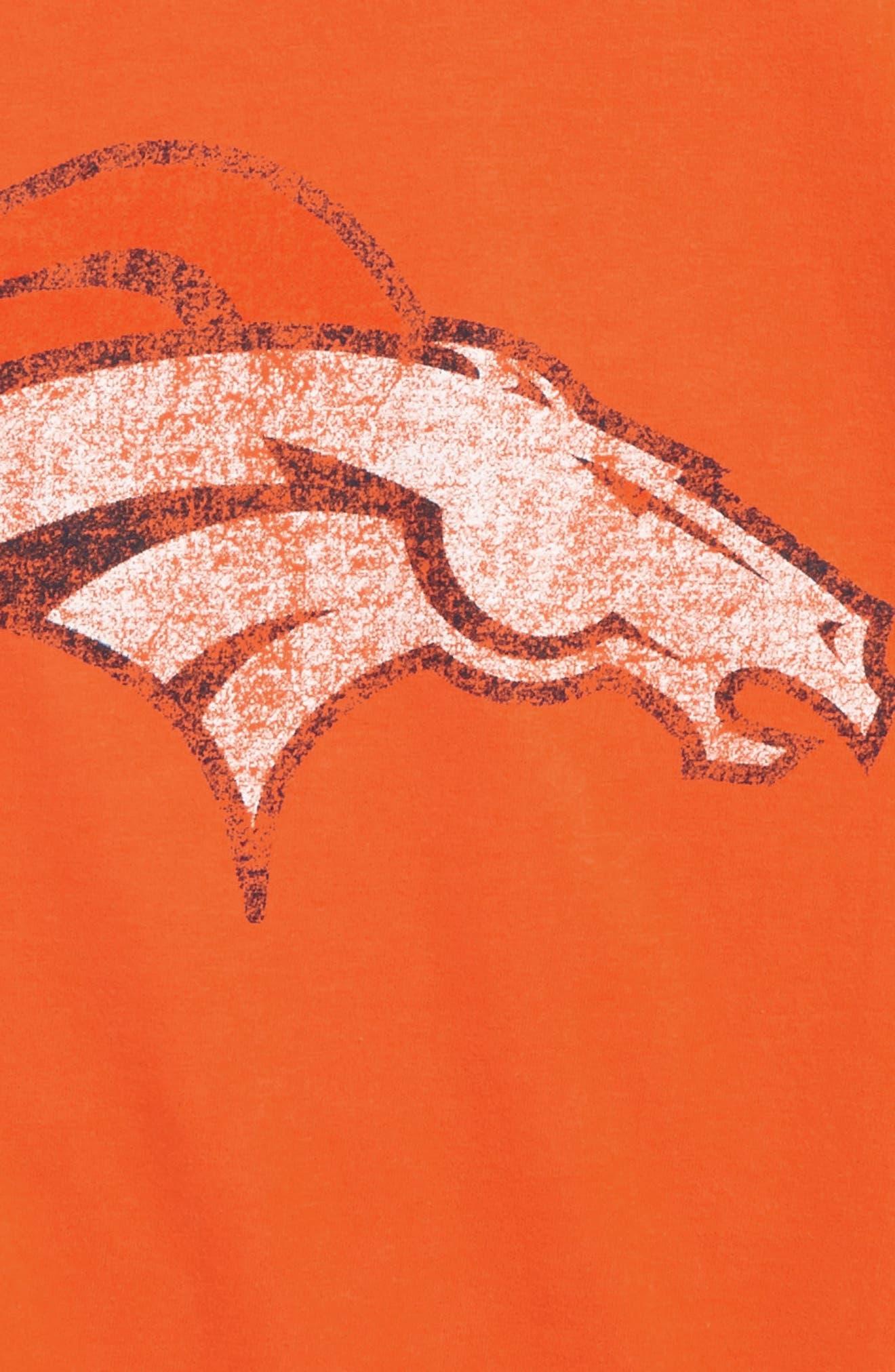 'NFL - Denver Broncos' Distressed Logo Graphic T-Shirt,                             Alternate thumbnail 3, color,                             800