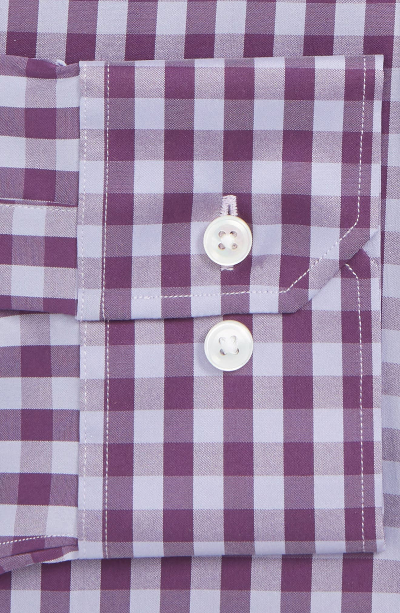 Port Grand Slim Fit Stretch Check Dress Shirt,                             Alternate thumbnail 2, color,                             GRAPESEED