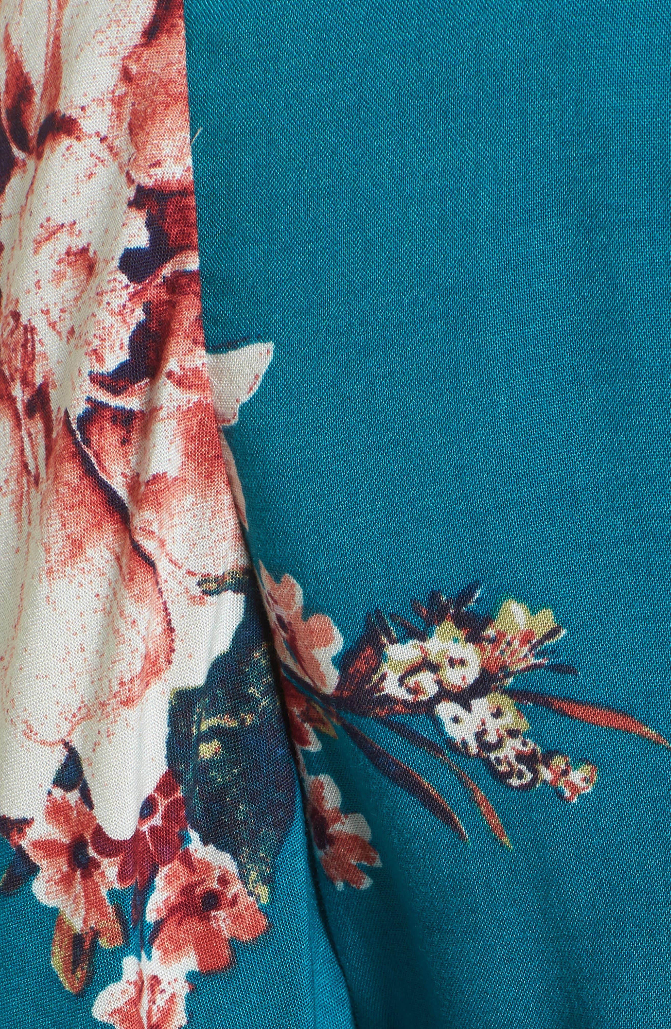 Mix Floral Crop Top,                             Alternate thumbnail 6, color,